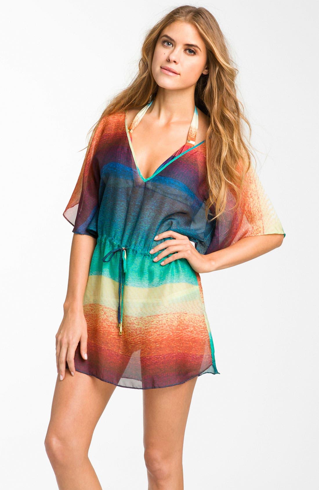 Main Image - ViX Swimwear 'Buzios Lina' Silk Caftan Cover-Up