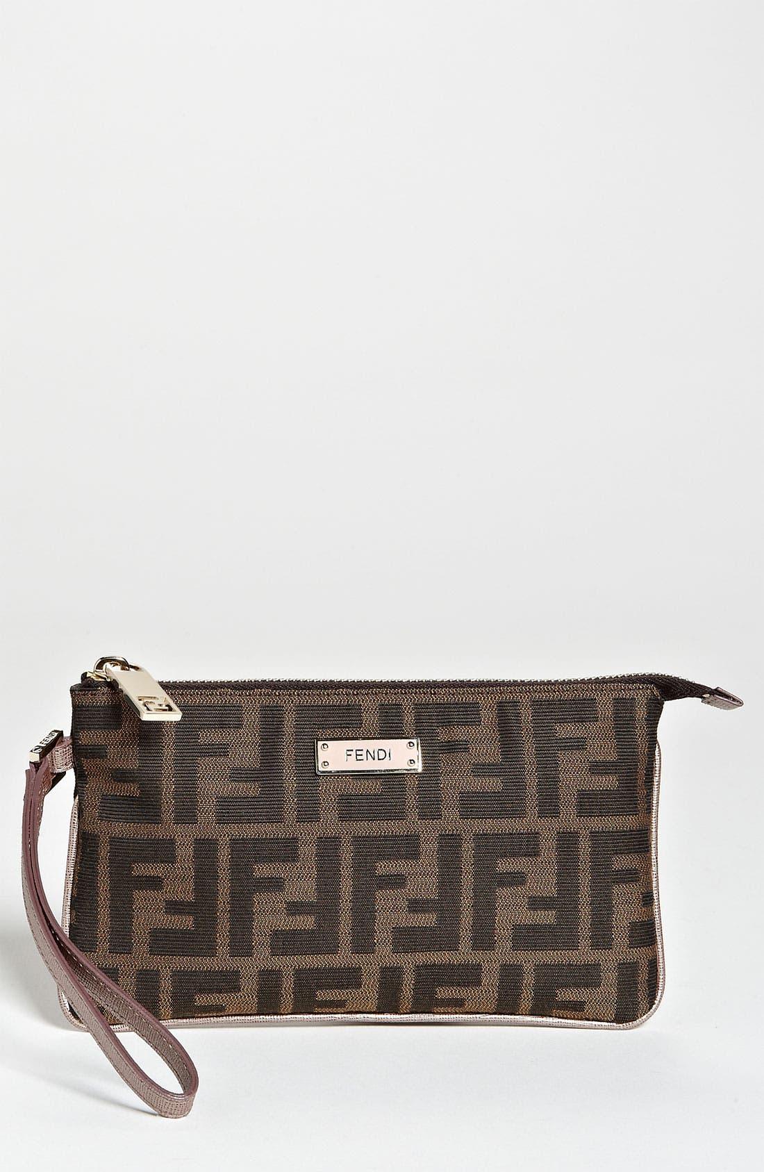 Main Image - Fendi 'Zucca' Fabric Wristlet