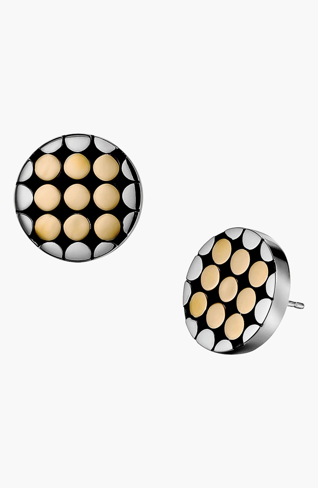 Main Image - John Hardy 'Dot Gold & Silver' Small Round Stud Earrings