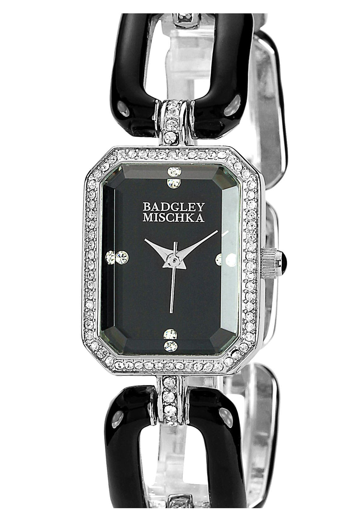 Alternate Image 1 Selected - Badgley Mischka Square Bracelet Watch