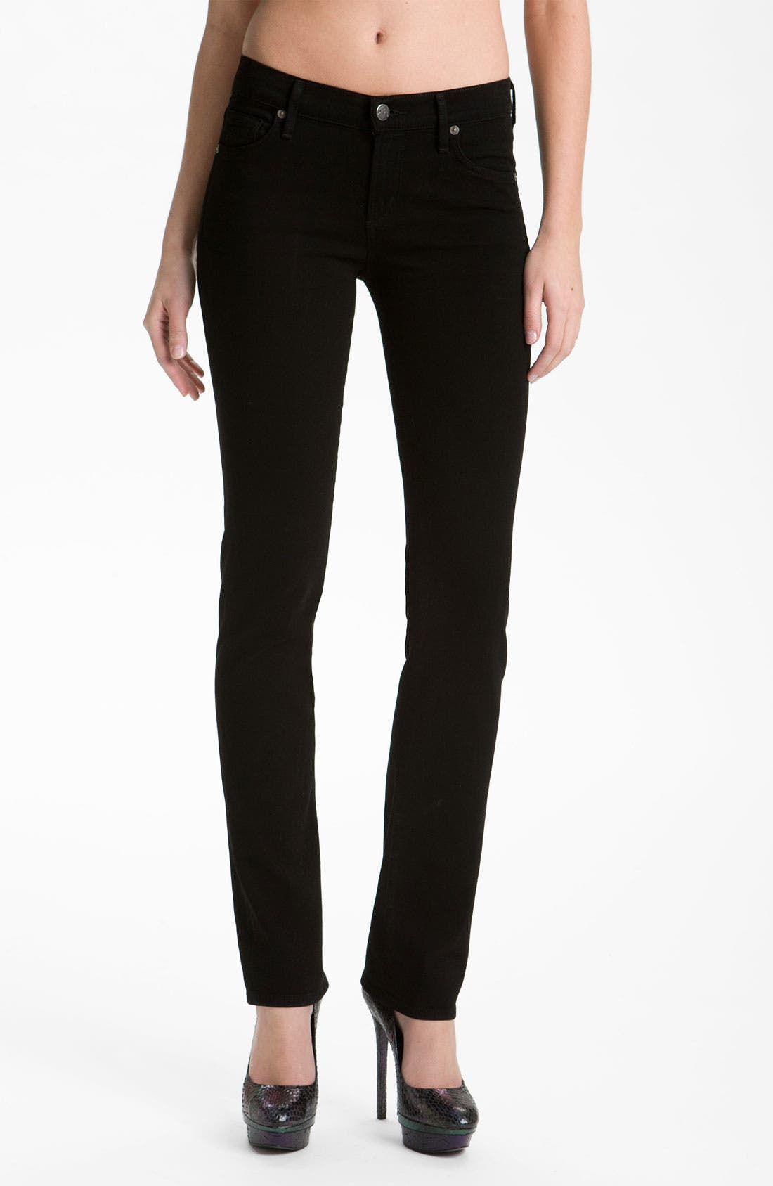 Alternate Image 1 Selected - Citizens of Humanity 'Ava' Straight Leg Stretch Jeans (Vamp Black) (Online Exclusive)