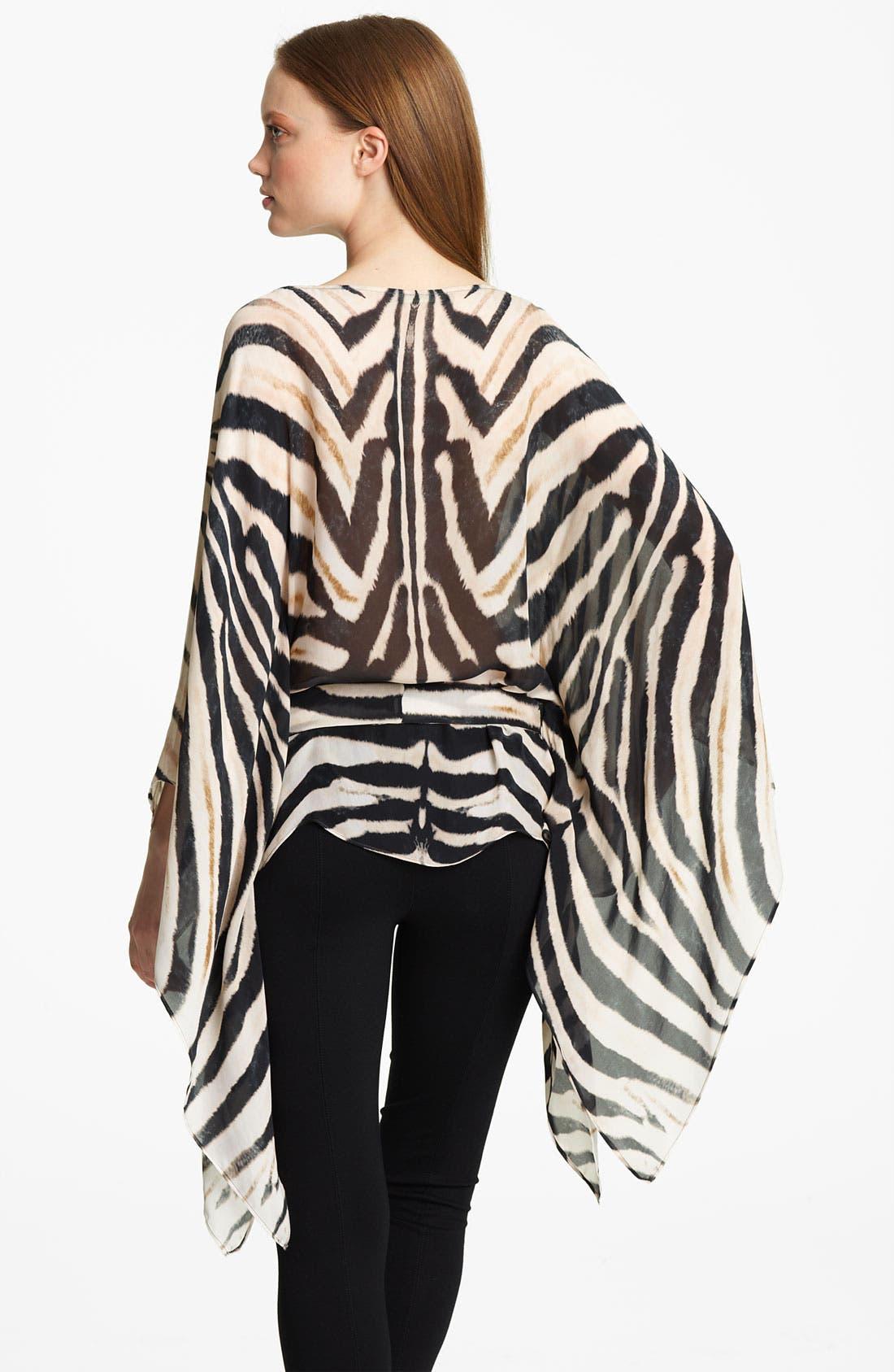 Alternate Image 2  - Roberto Cavalli Zebra Print Chiffon Caftan
