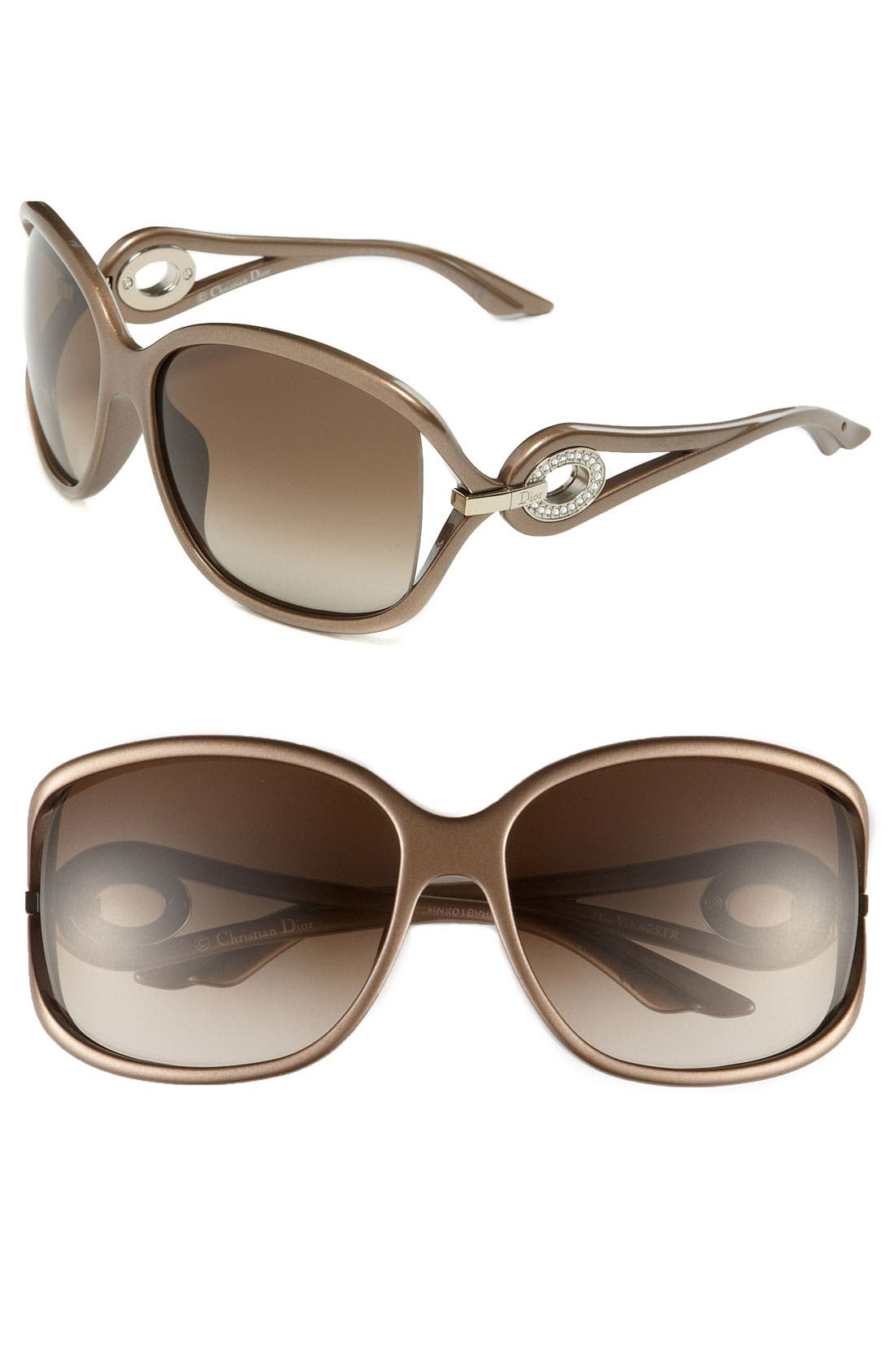 Main Image - Dior 'Volute Strass' 61mm Oversized Sunglasses