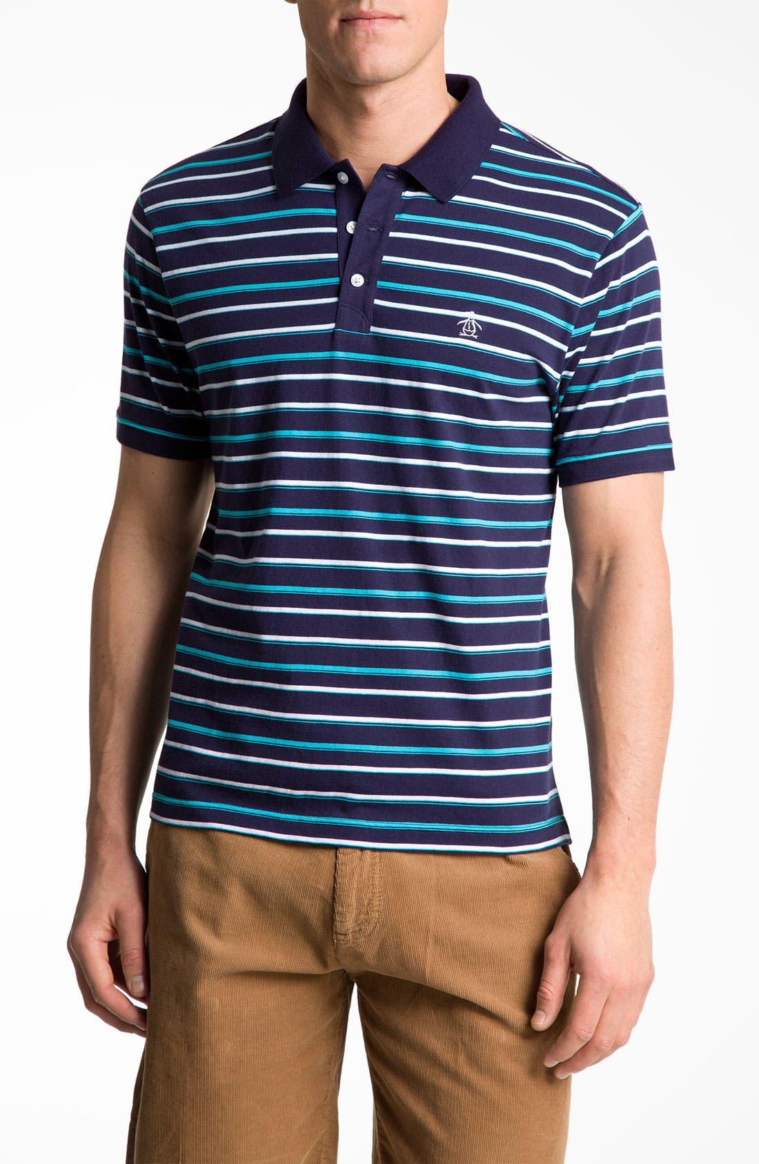 Alternate Image 1 Selected - Original Penguin Stripe Polo