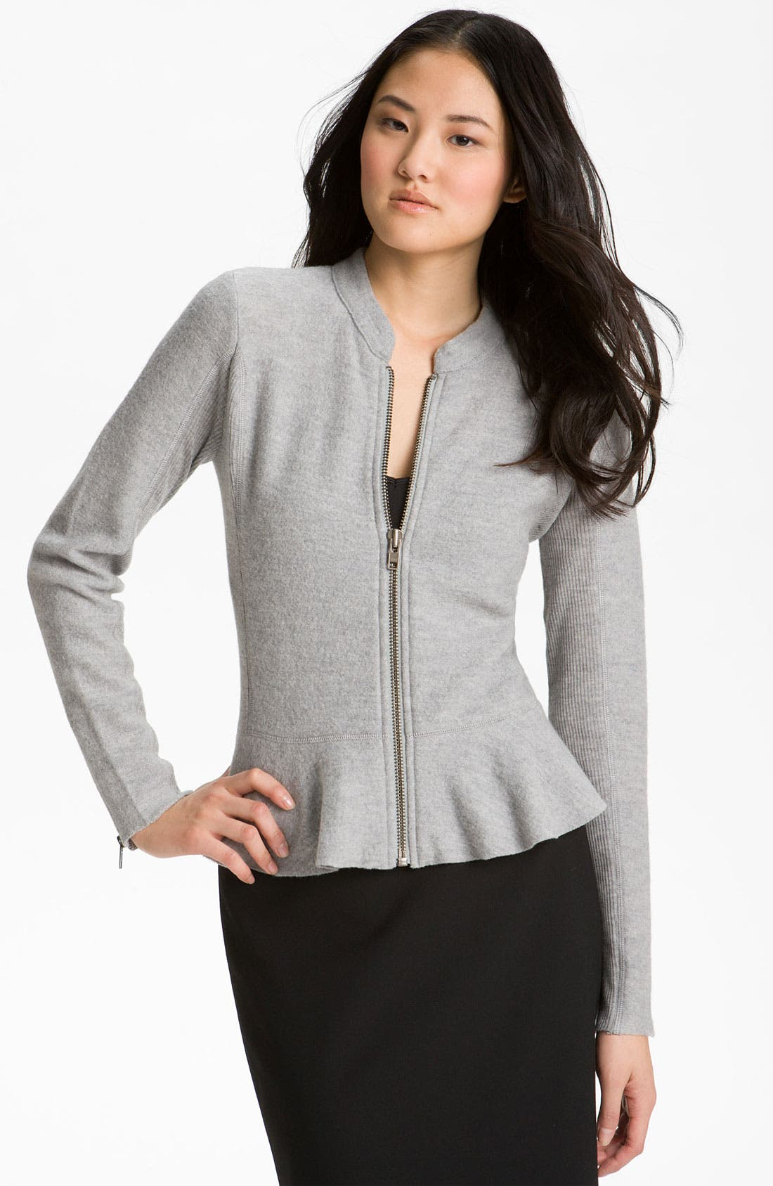 Main Image - Halogen® Boiled Wool Peplum Jacket