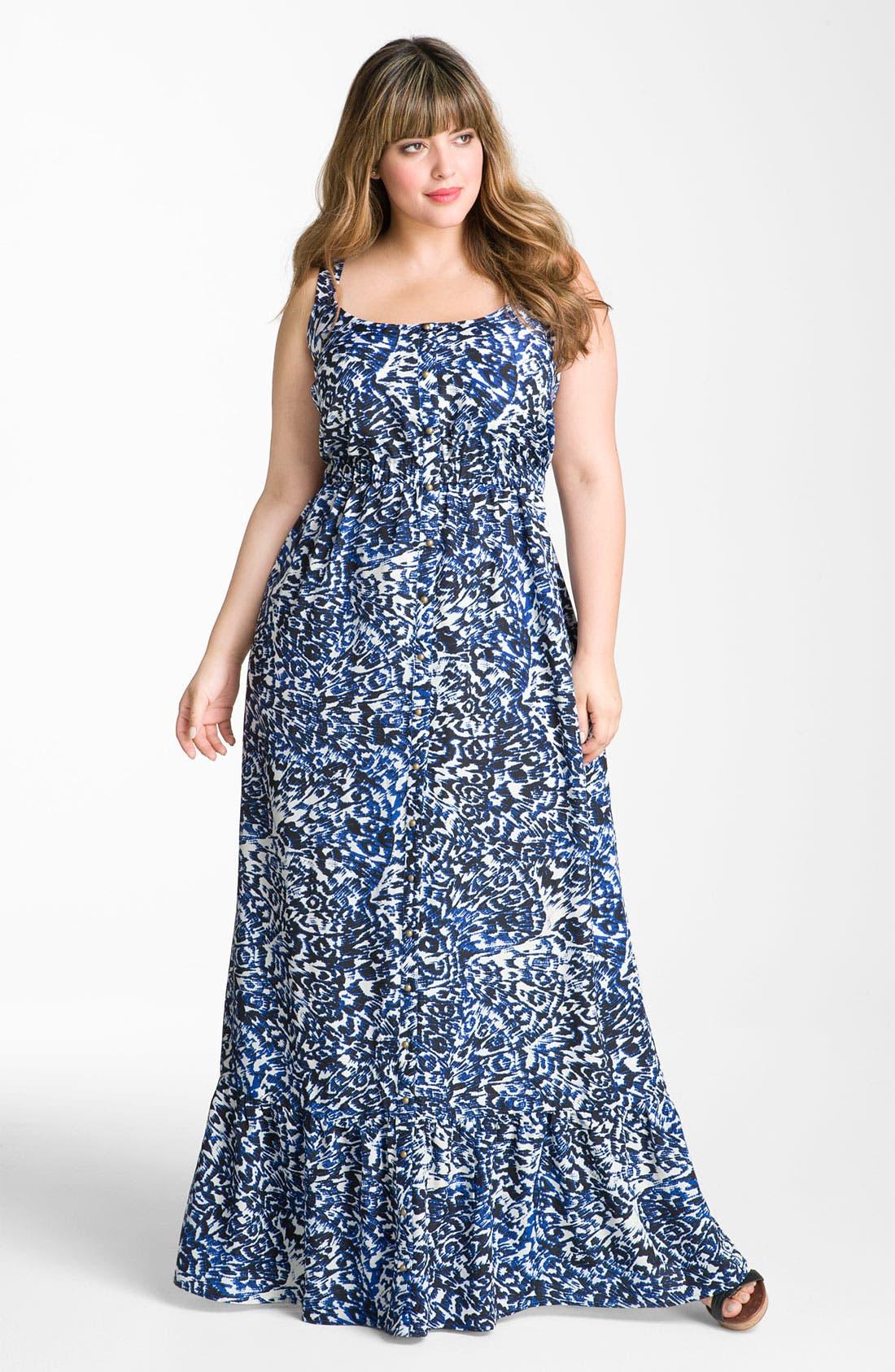 Alternate Image 1 Selected - Bellatrix Print Maxi Dress (Plus)