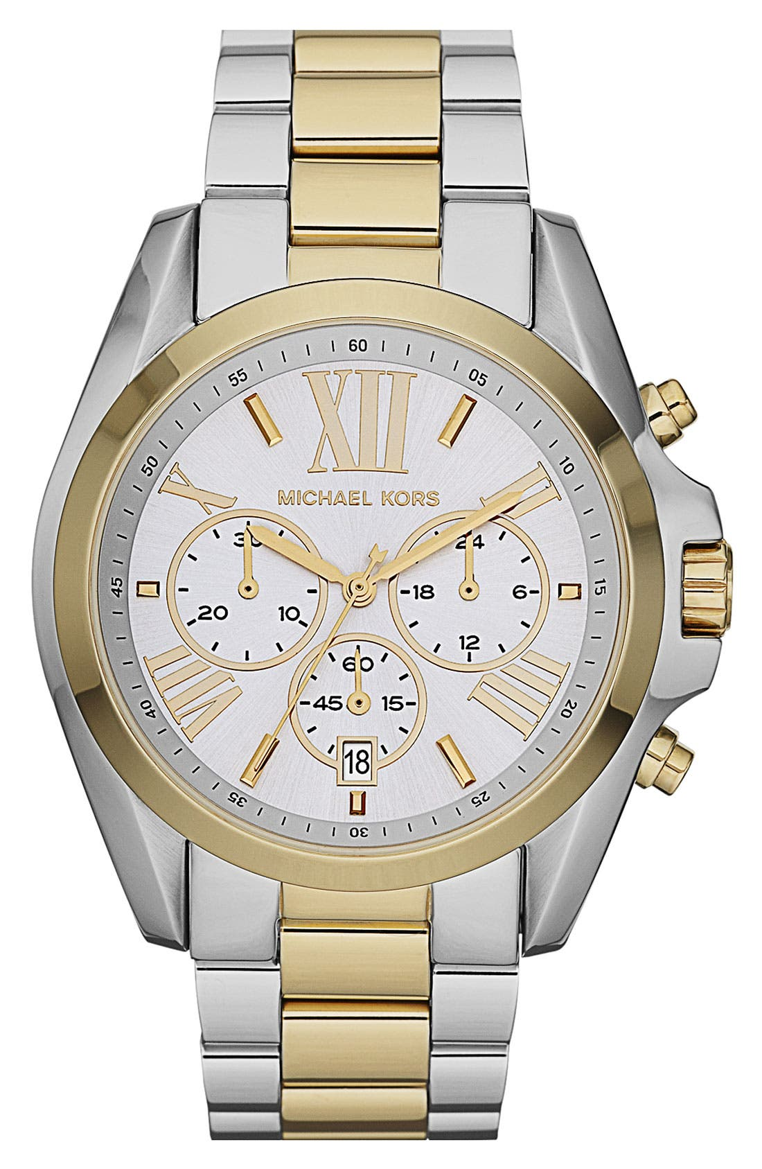 Alternate Image 1 Selected - Michael Kors 'Bradshaw' Chronograph Bracelet Watch, 43mm