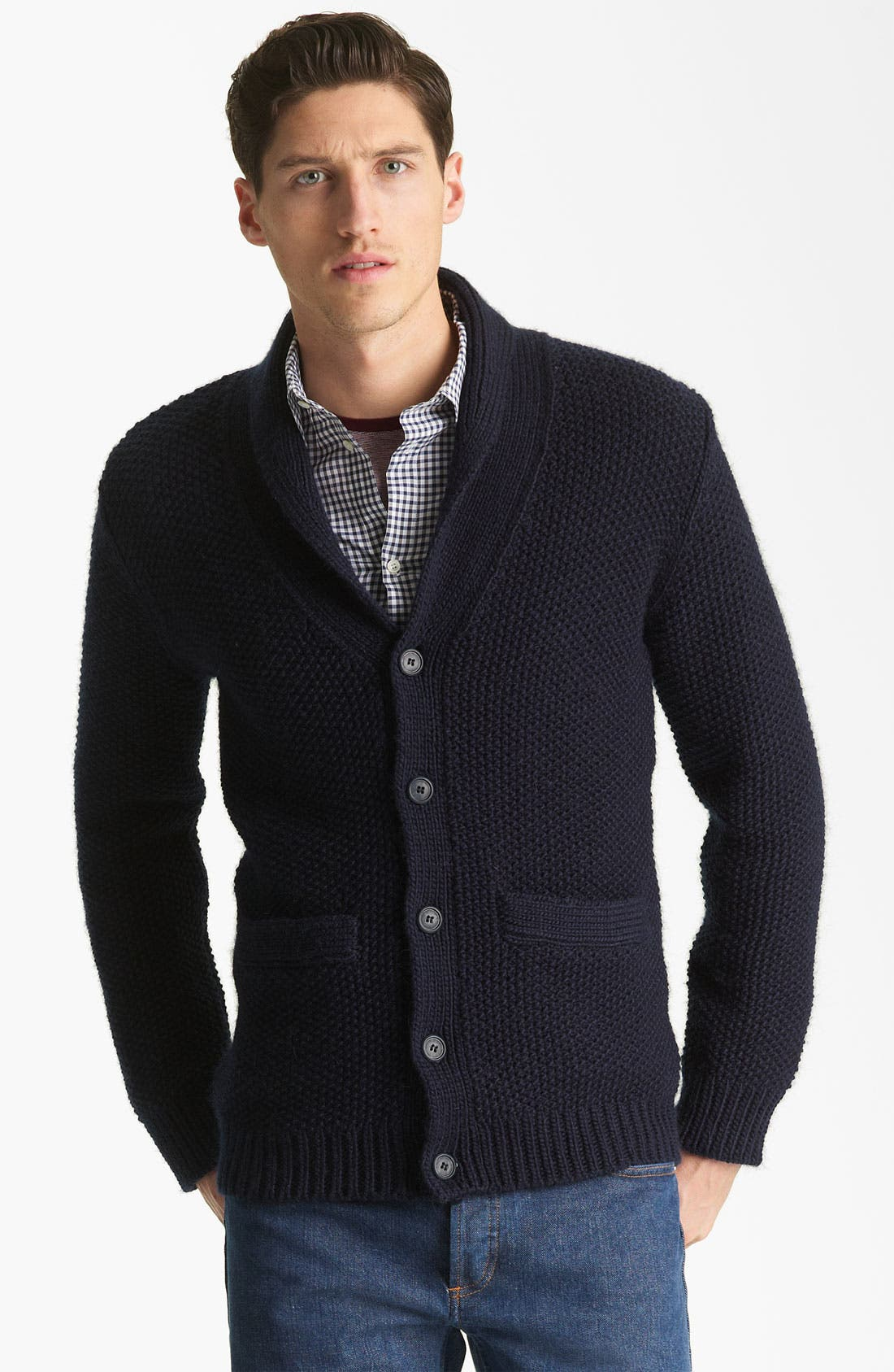 Alternate Image 1 Selected - A.P.C. Shawl Collar Cardigan