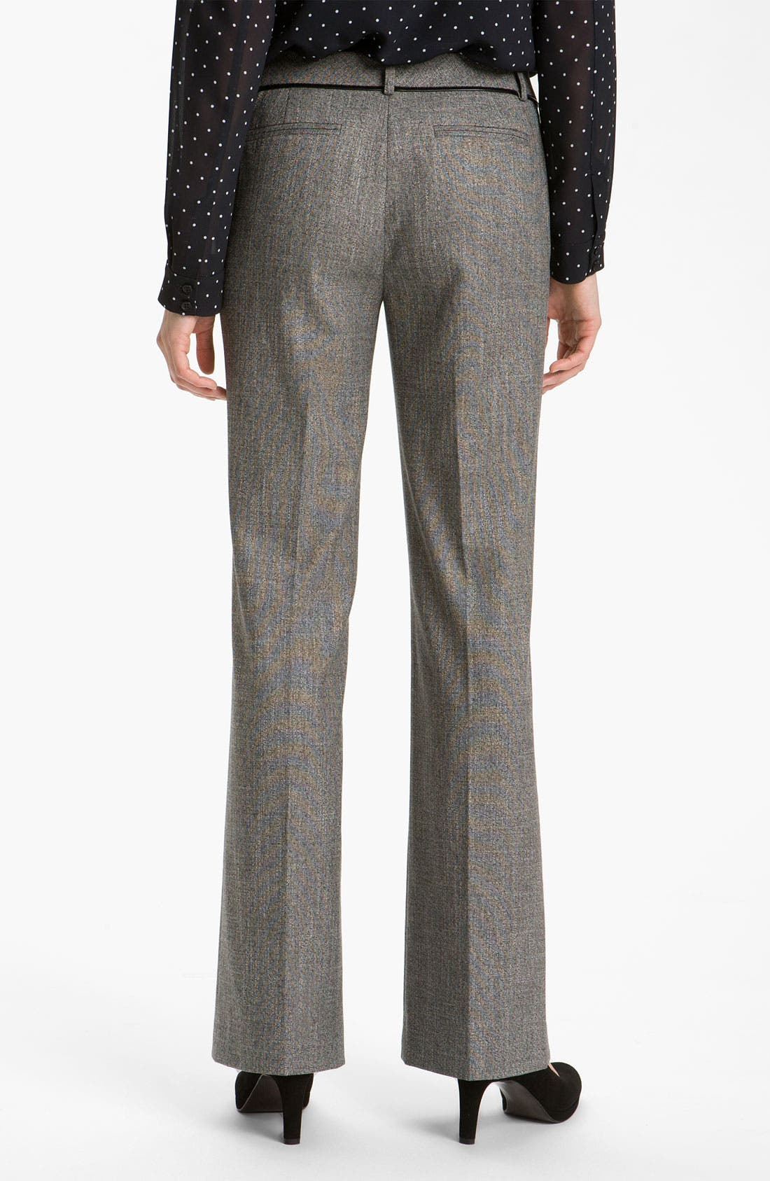 Alternate Image 2  - Halogen® 'Taylor' Curvy Fit Two Tone Pants