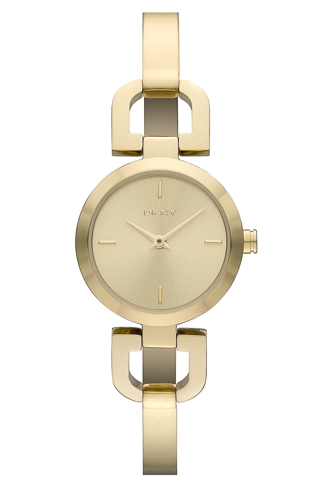 Alternate Image 1 Selected - DKNY 'Reade' Round D-Link Bangle Watch, 24mm