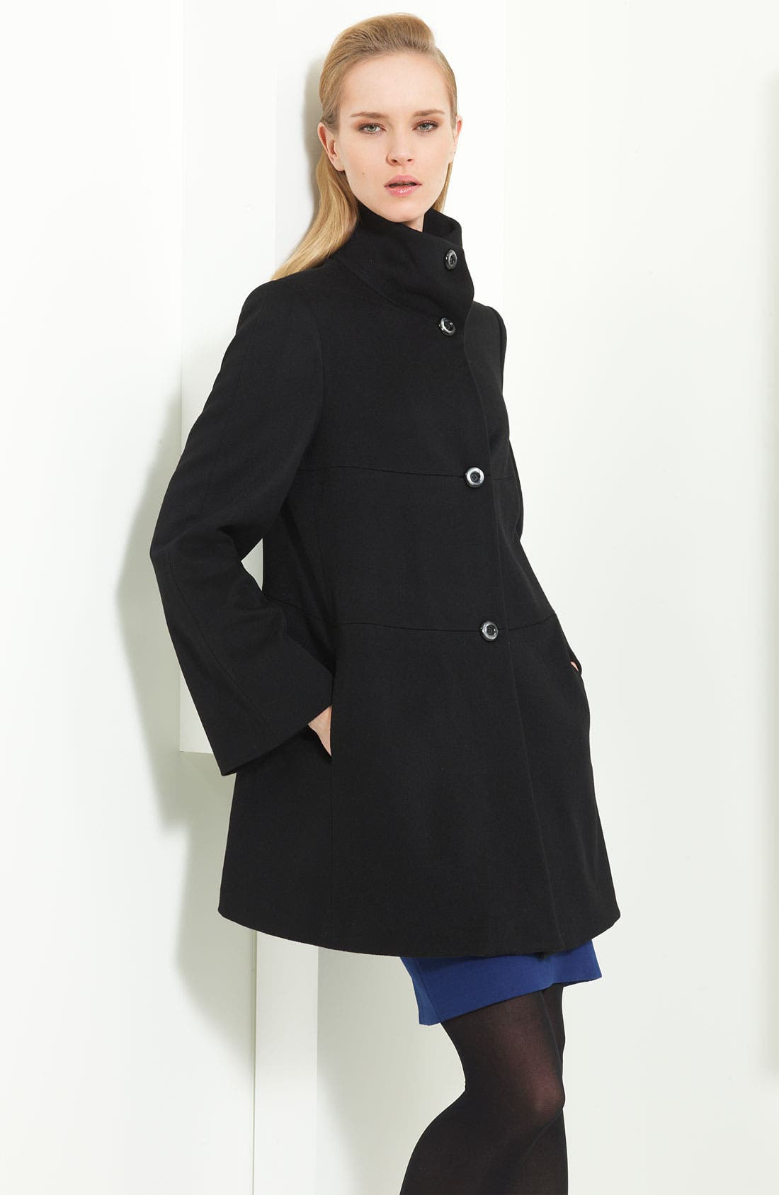 Alternate Image 1 Selected - Armani Collezioni Wool Caban Coat