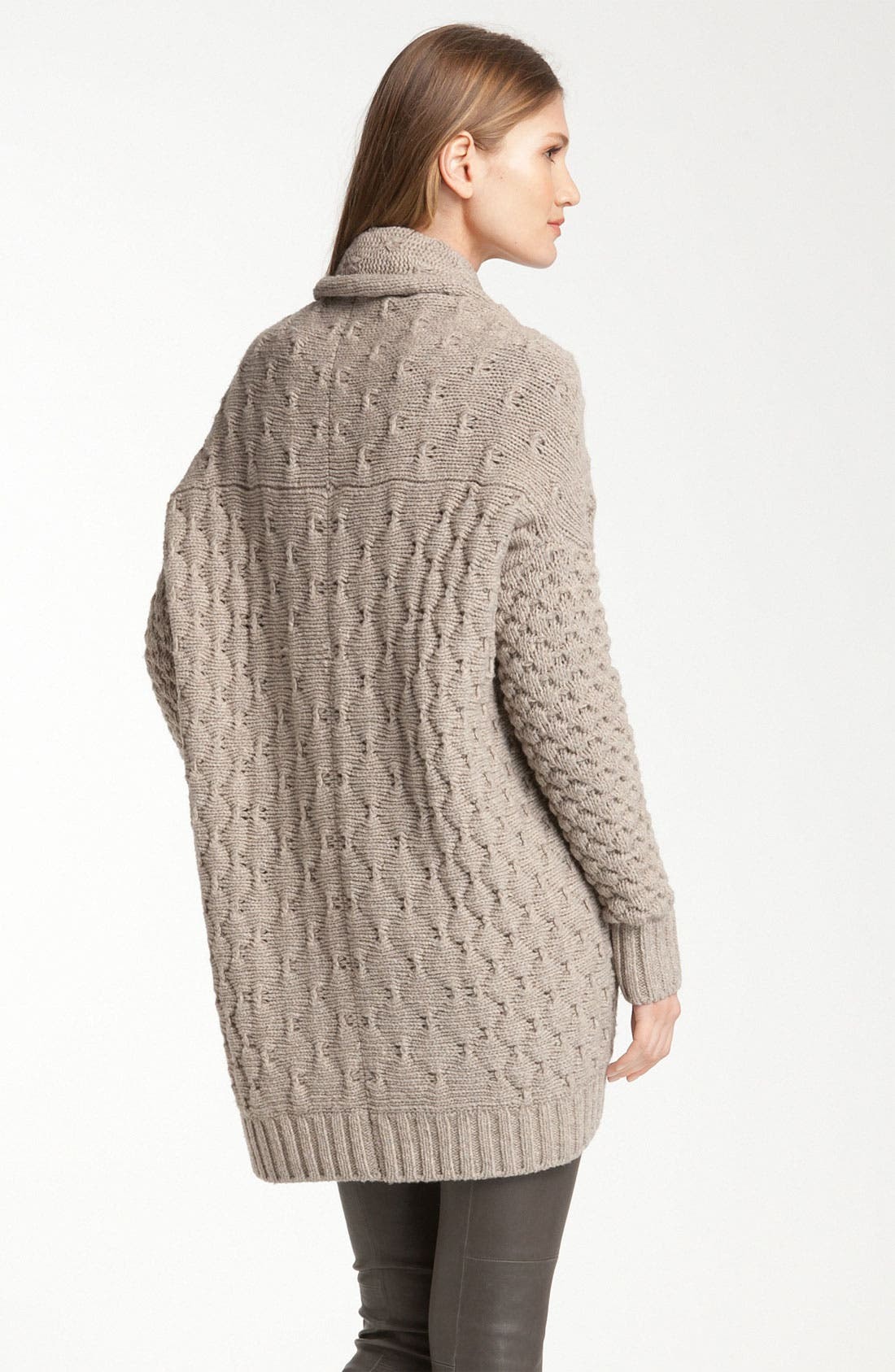 Alternate Image 2  - Vince Mixed Knit Oversized Cardigan