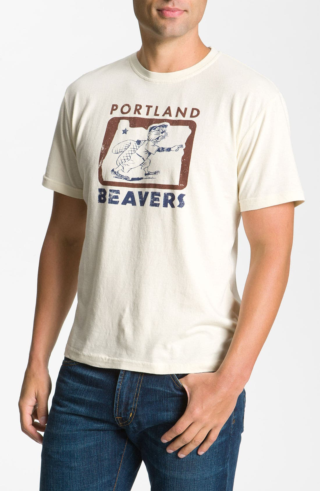 Main Image - Red Jacket 'Portland Beavers' Regular Fit Crewneck T-Shirt (Men)