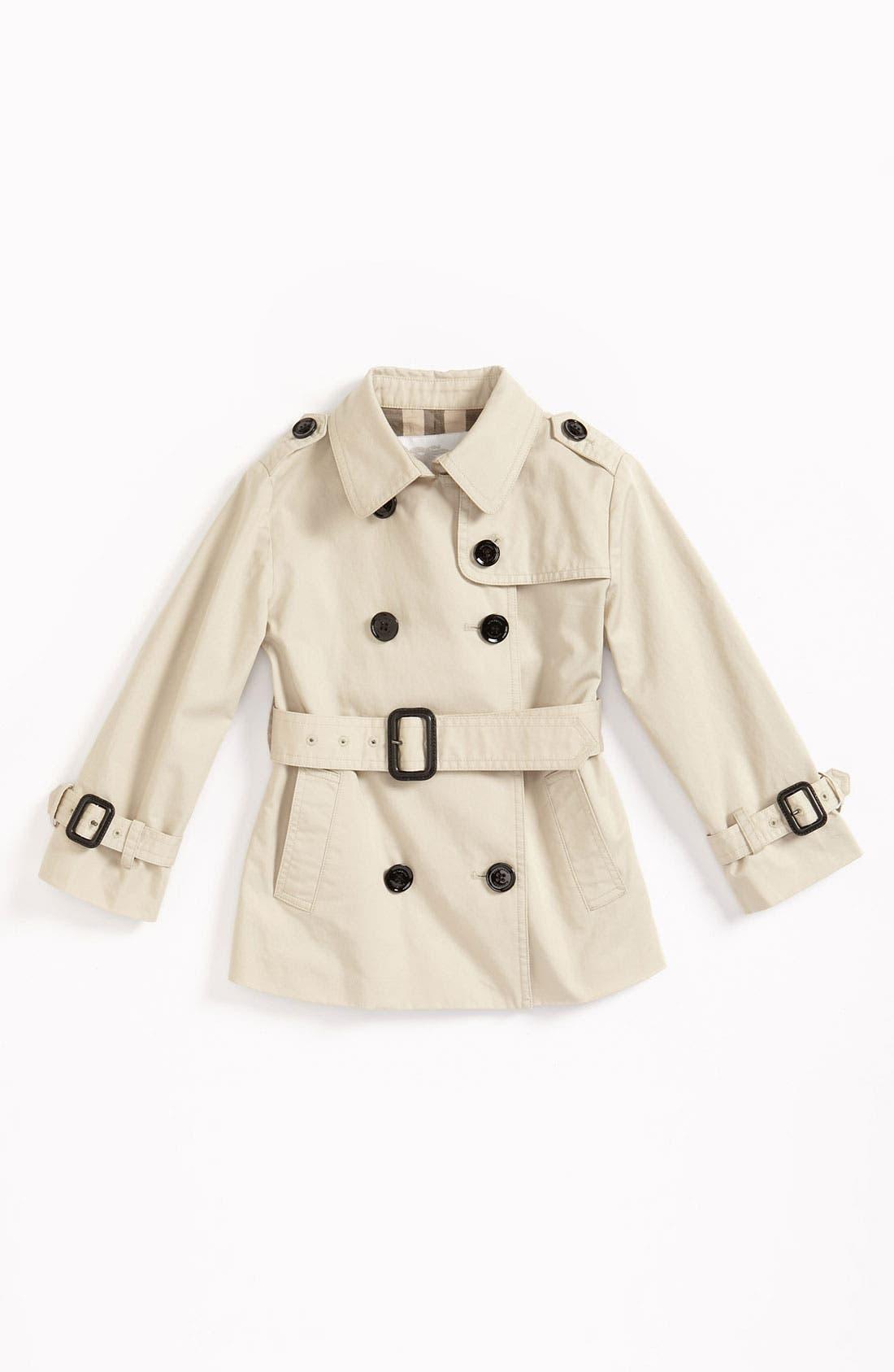 Main Image - Burberry Belted Jacket (Toddler)