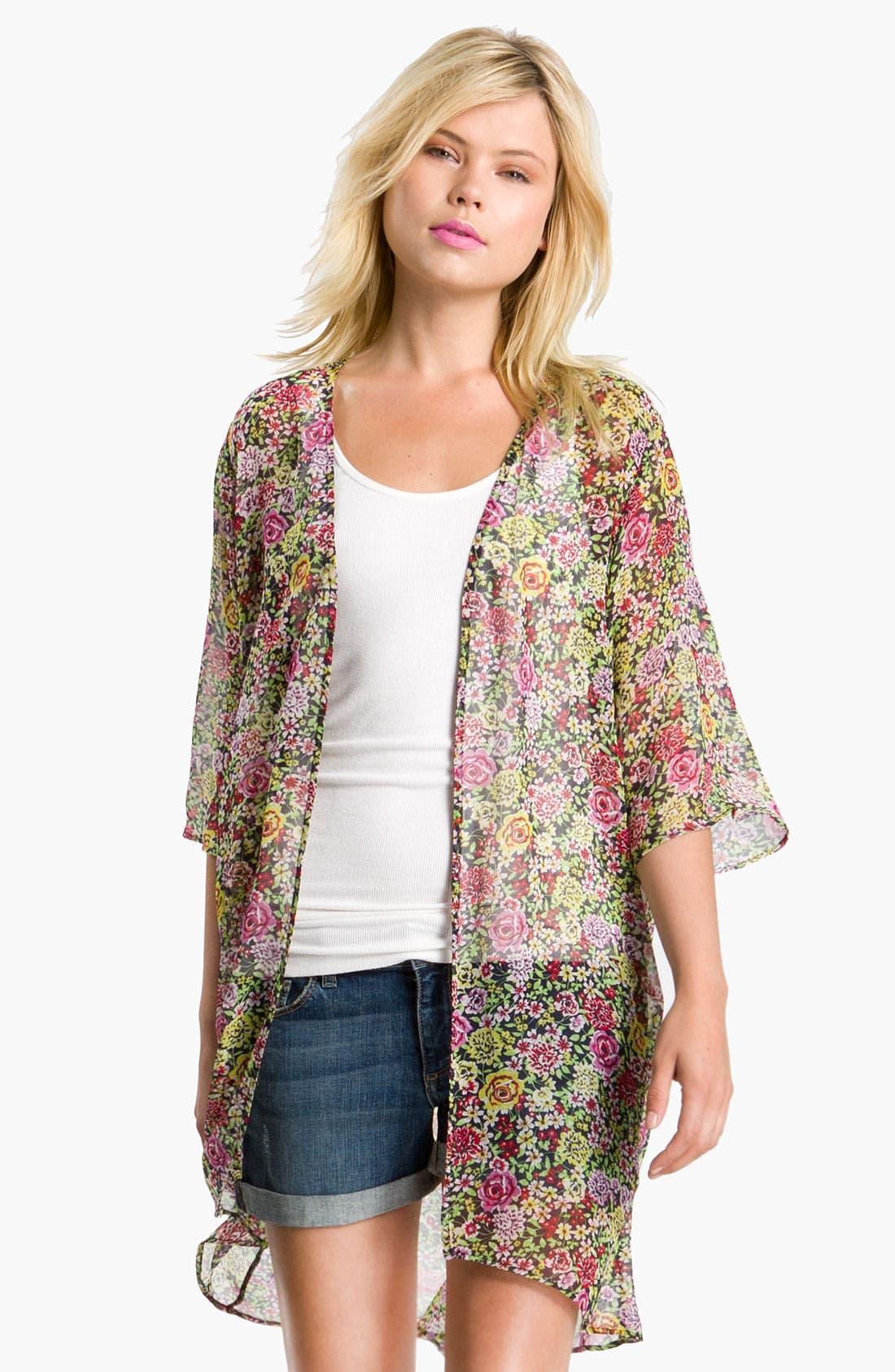Alternate Image 1 Selected - Bellatrix Floral Print Chiffon Robe