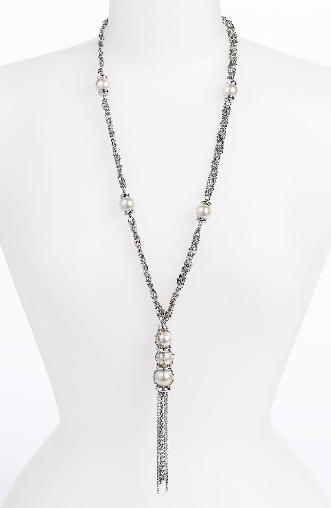 Main Image - Givenchy Glass Pearl & Chain Y-Necklace