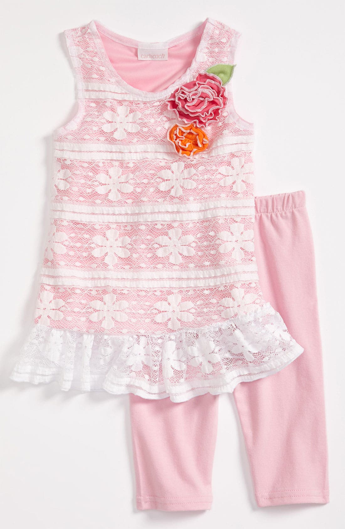 Alternate Image 1 Selected - Cach Cach Tunic & Leggings (Infant)