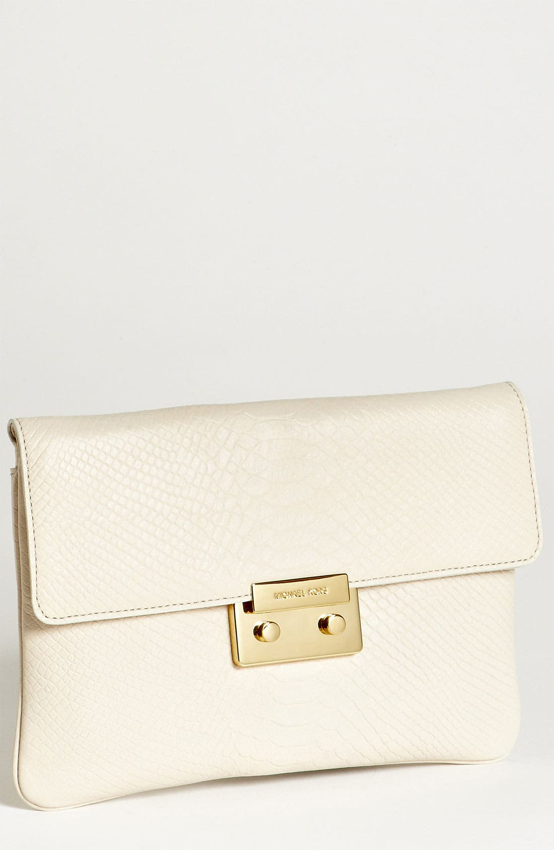 Alternate Image 1 Selected - MICHAEL Michael Kors 'Sloan' Snake Embossed Leather Clutch