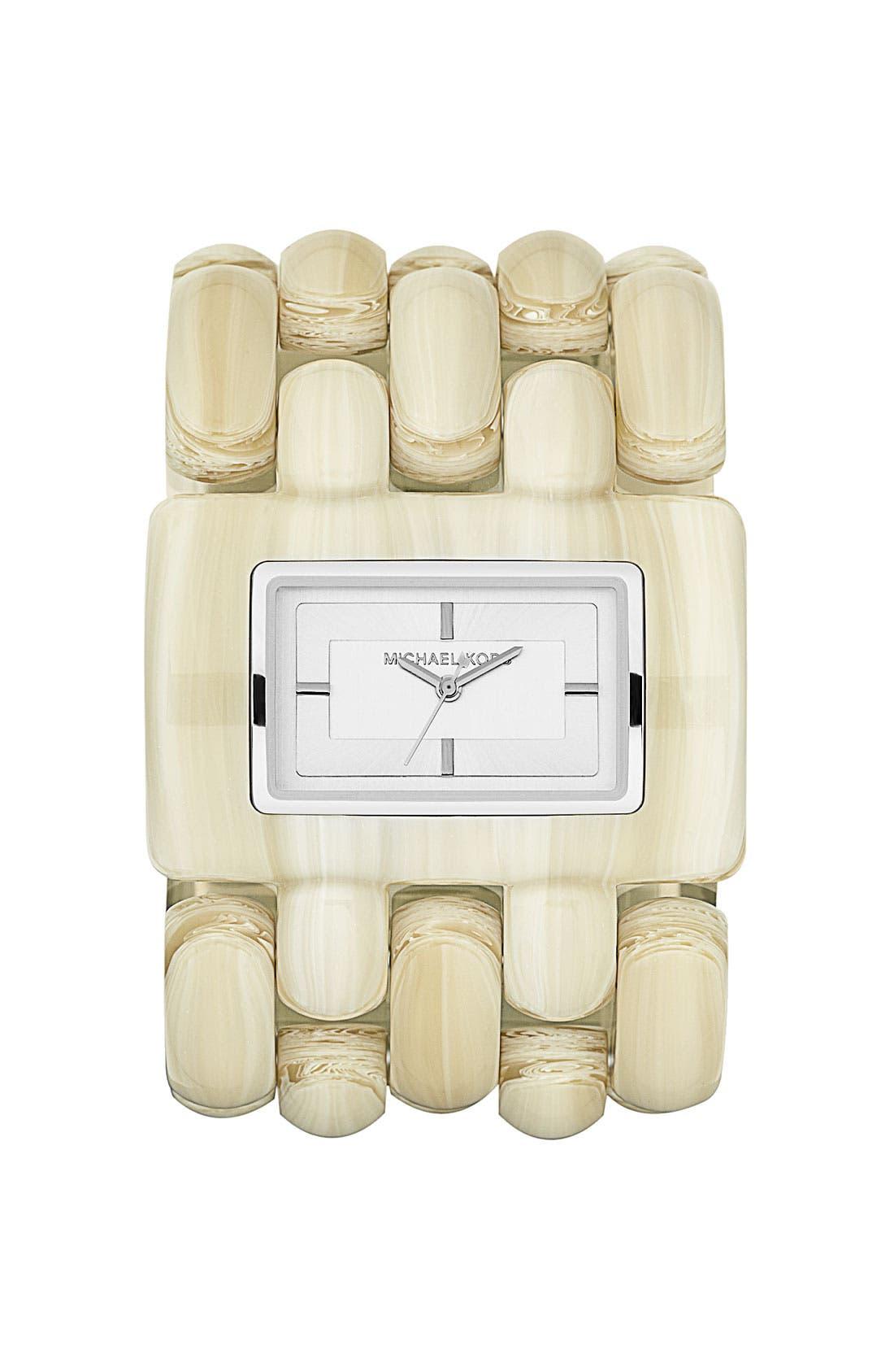 Alternate Image 1 Selected - Michael Kors 'Rio' Wide Bracelet Watch