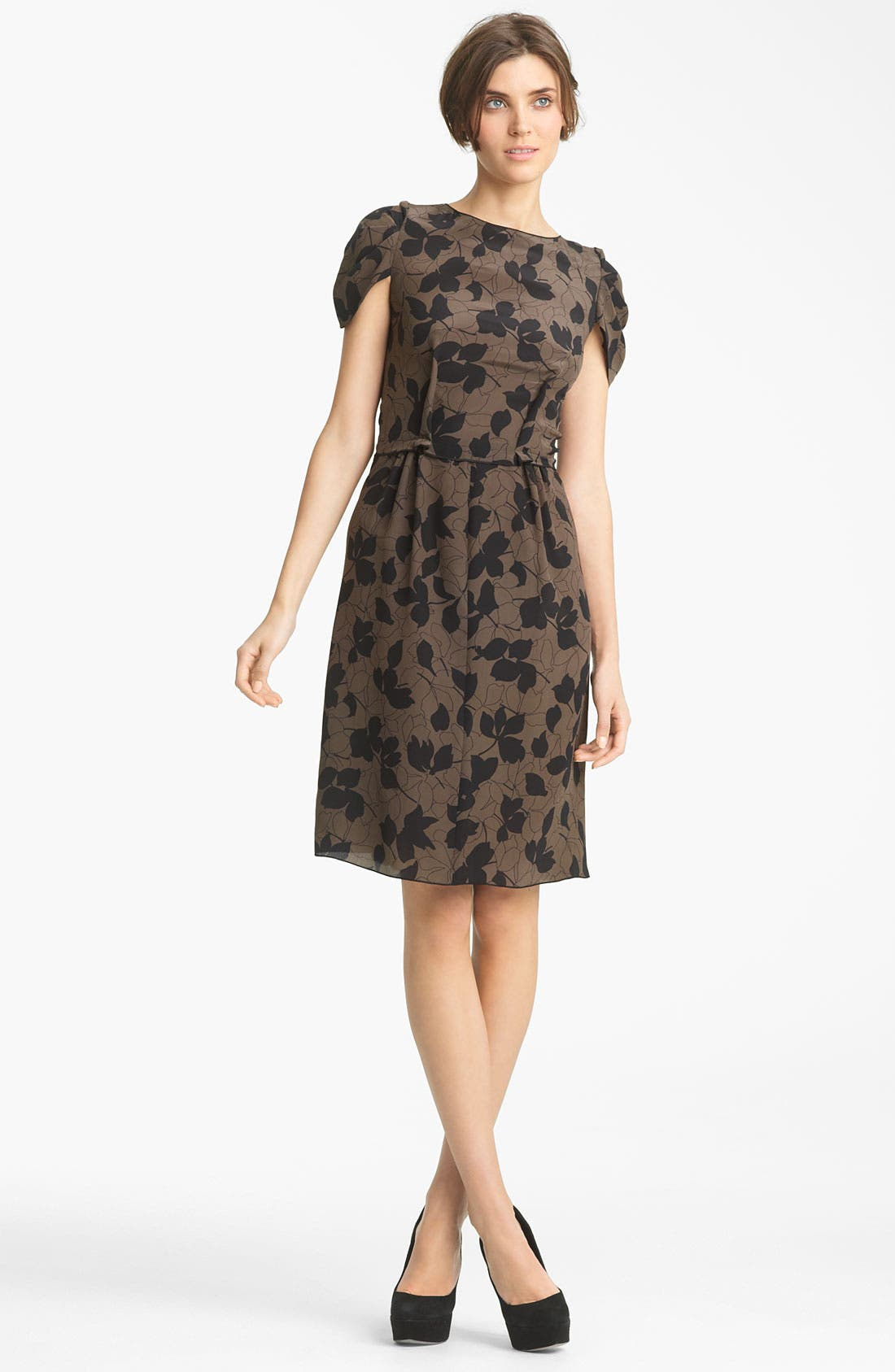 Alternate Image 1 Selected - Nina Ricci 'Camo Fleur' Print Silk Crepe Dress