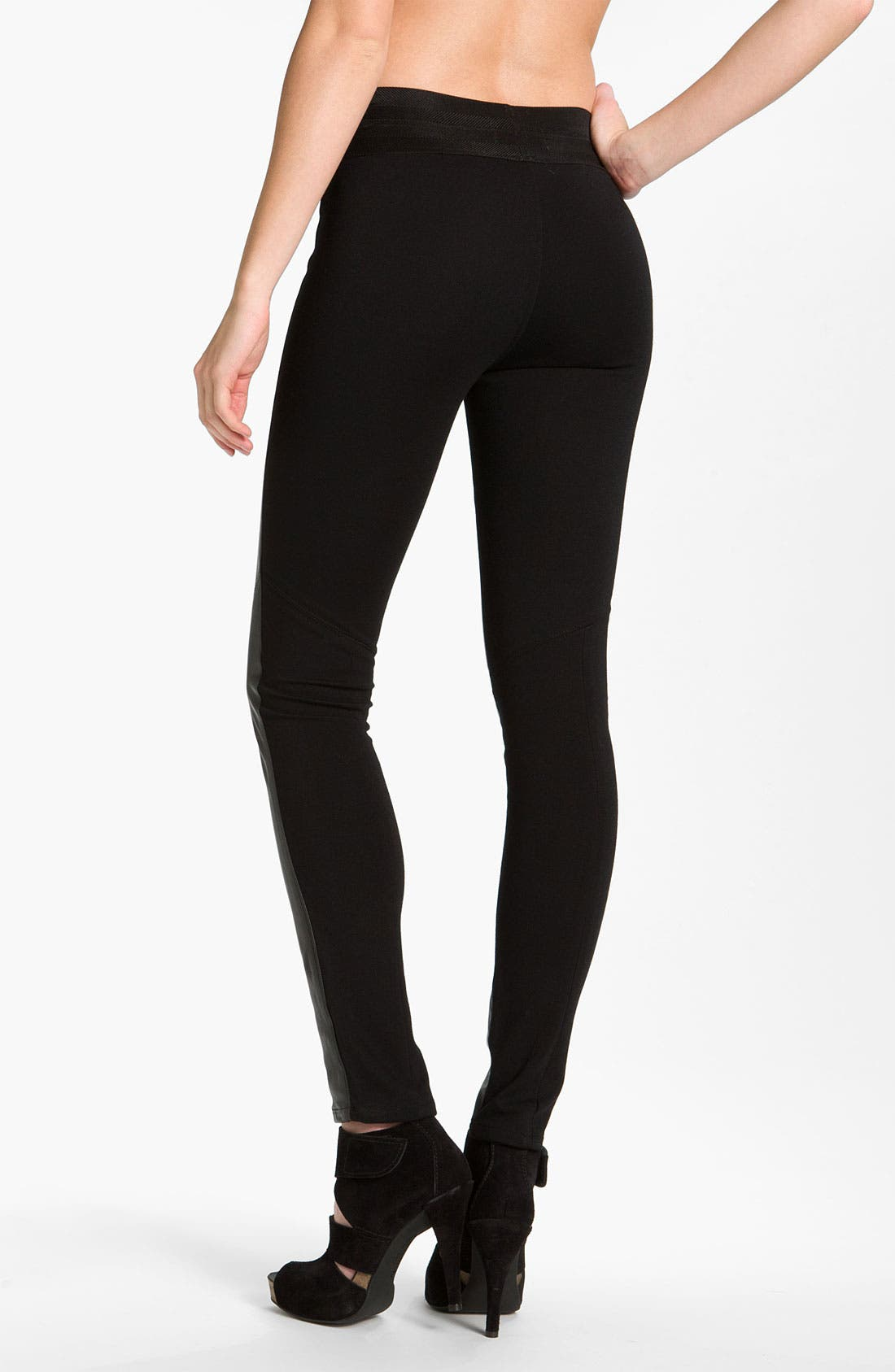 Alternate Image 2  - Paige Black Label 'Paloma' Leather Panel Leggings