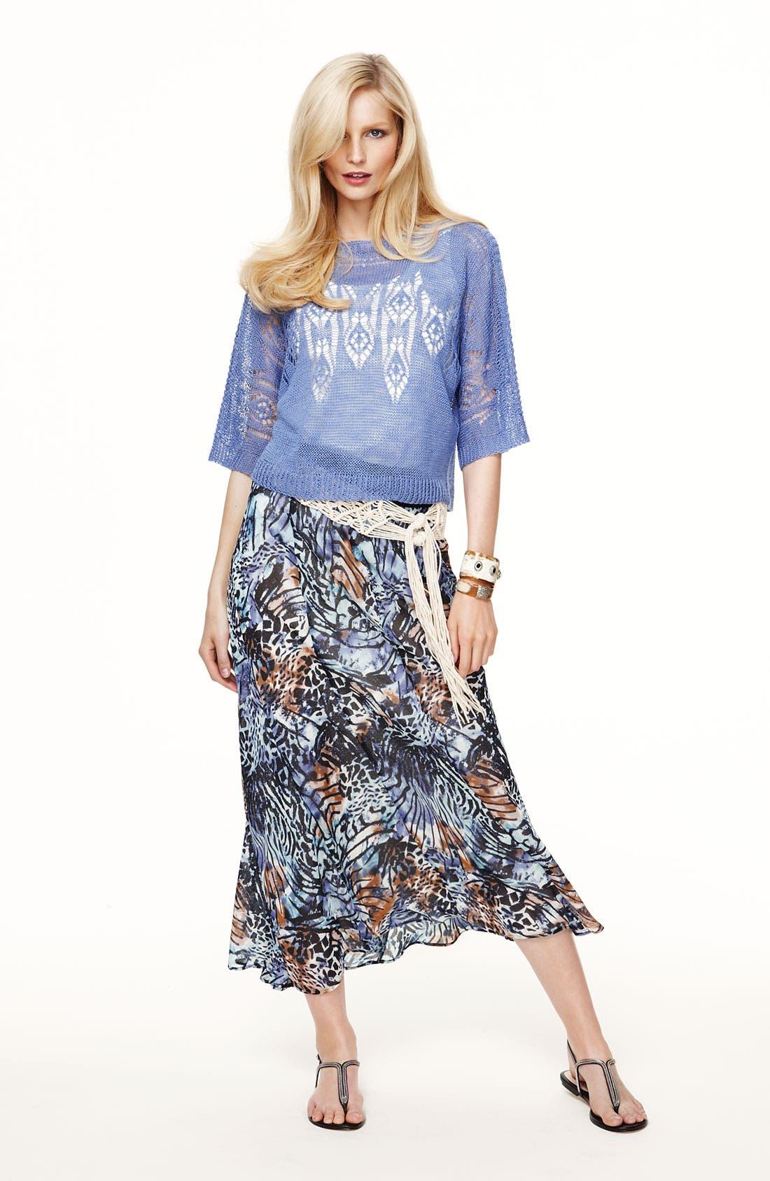 Alternate Image 4  - Nic + Zoe 'Pattern Play' Print Maxi Skirt