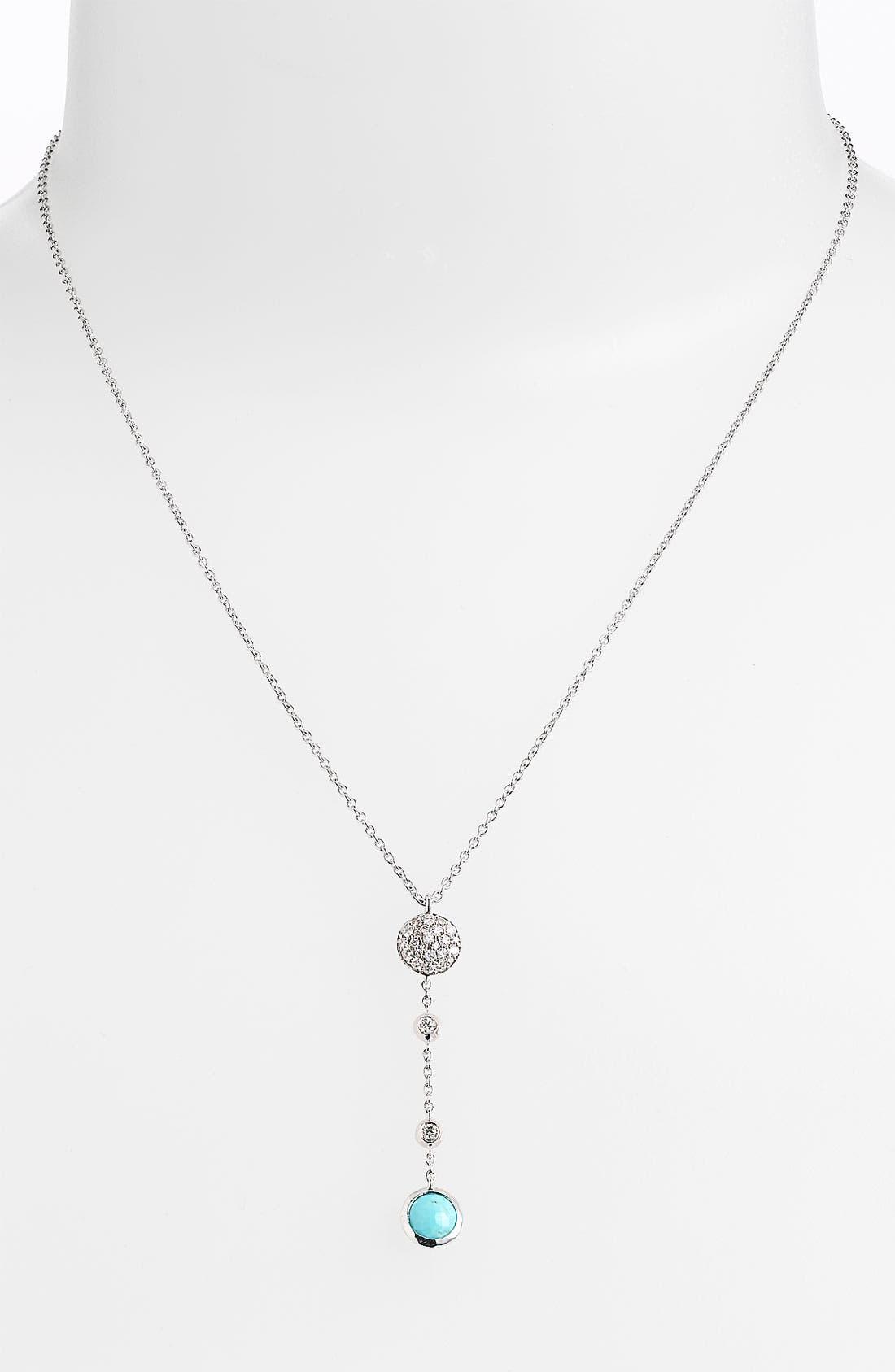 Alternate Image 1 Selected - Ippolita 'Silver Rain' Diamond & Stone Y-Necklace
