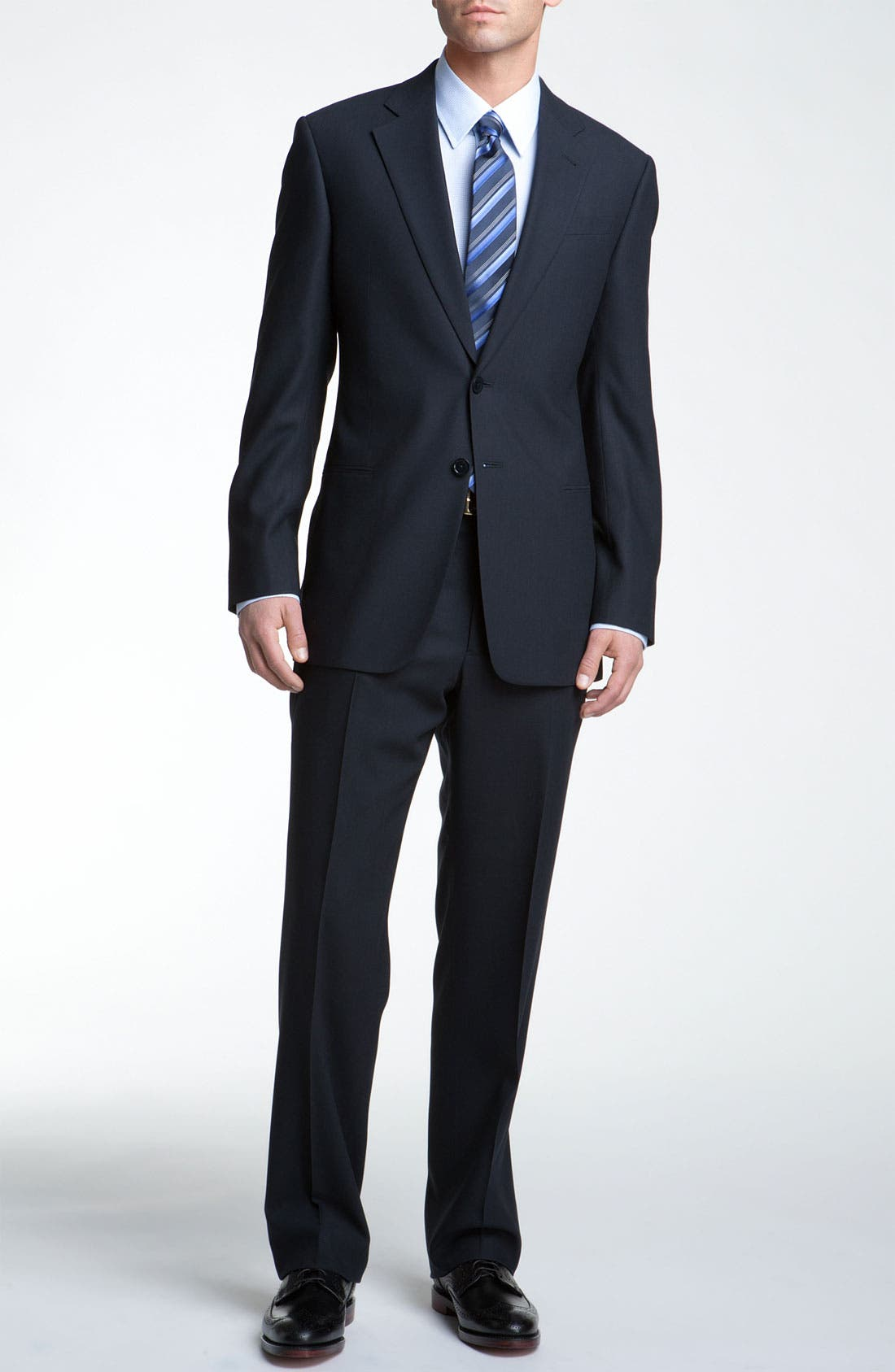 Alternate Image 2  - Armani Collezioni Trim Fit Wool Suit