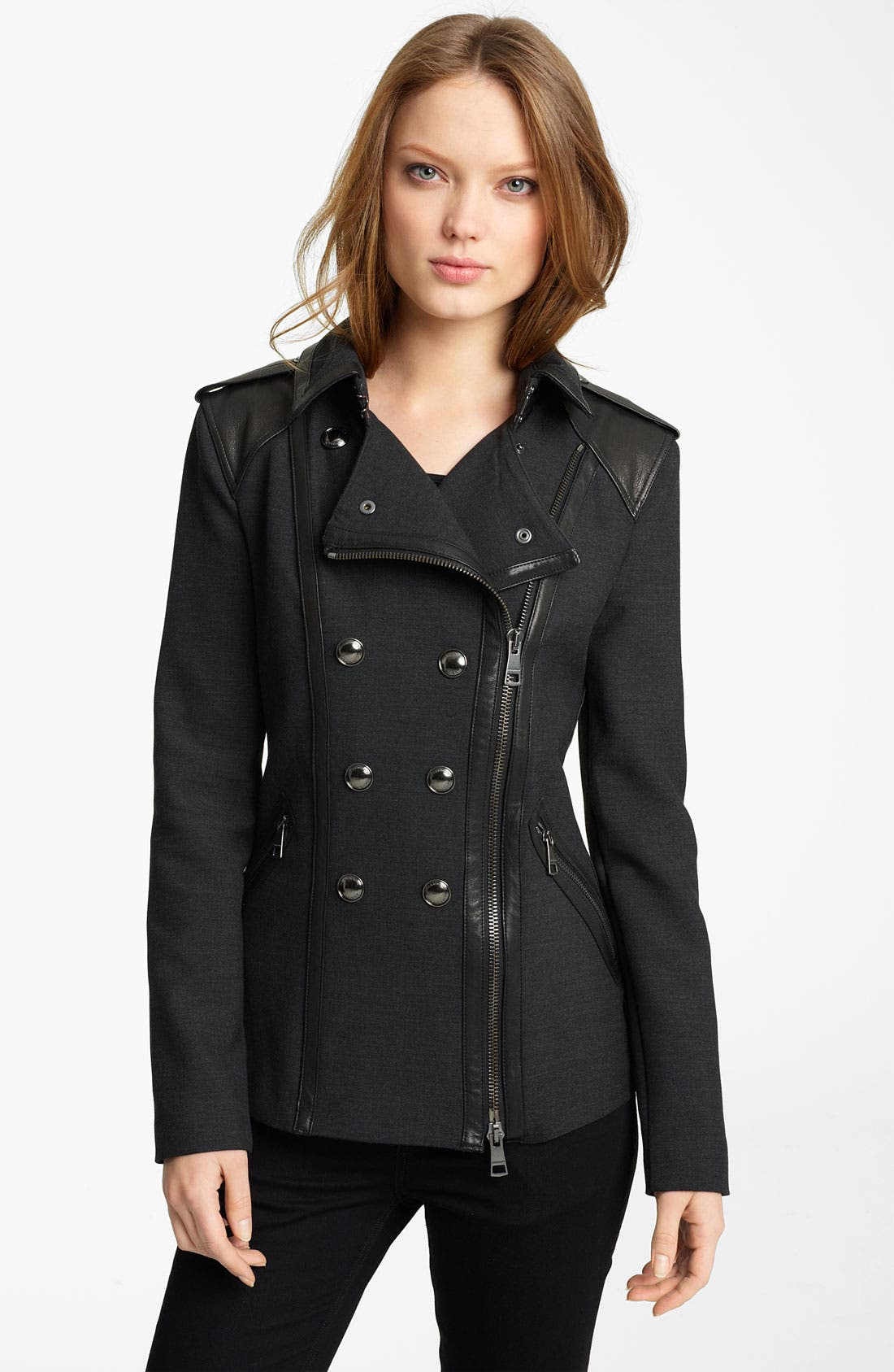Alternate Image 1 Selected - Burberry London Asymmetrical Jacket