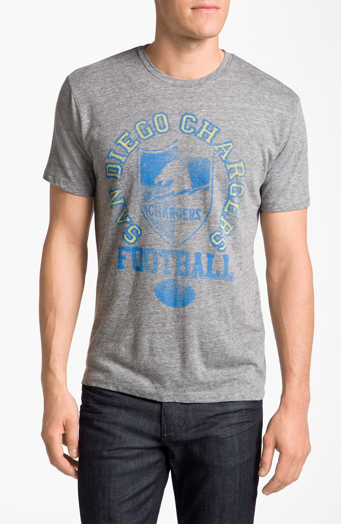 Alternate Image 1 Selected - Junk Food 'San Diego Chargers' Graphic Crewneck T-Shirt
