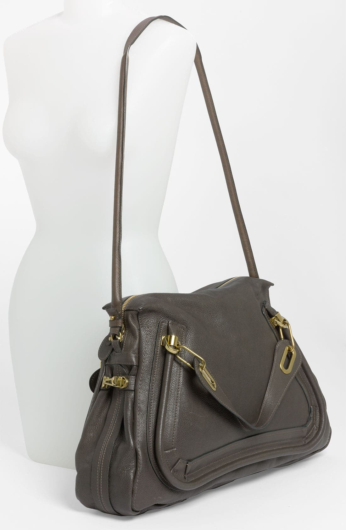 Alternate Image 2  - Chloé 'Paraty - Large' Calfskin Leather Satchel