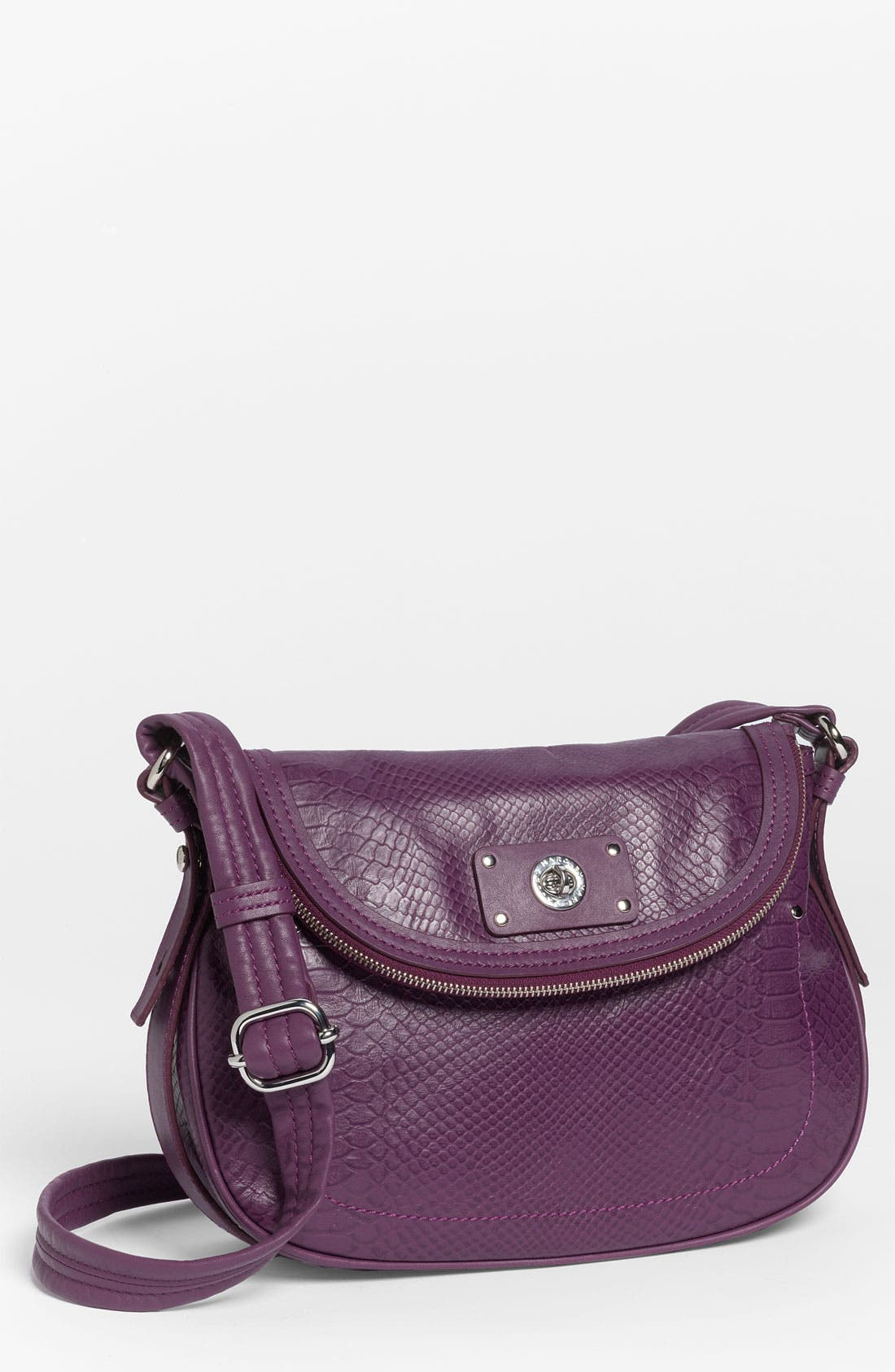 Main Image - MARC BY MARC JACOBS 'Totally Turnlock - Natasha' Python Embossed Crossbody Bag