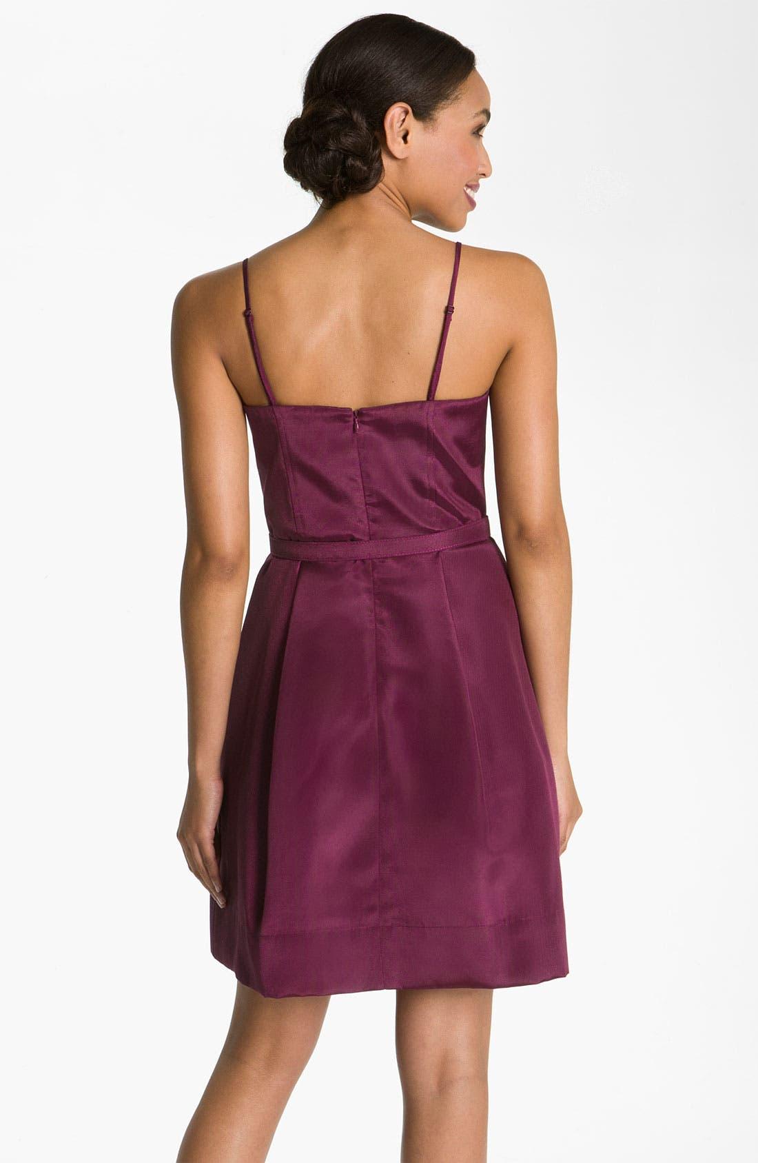 Alternate Image 2  - Eliza J Belted Spaghetti Strap Fit & Flare Dress