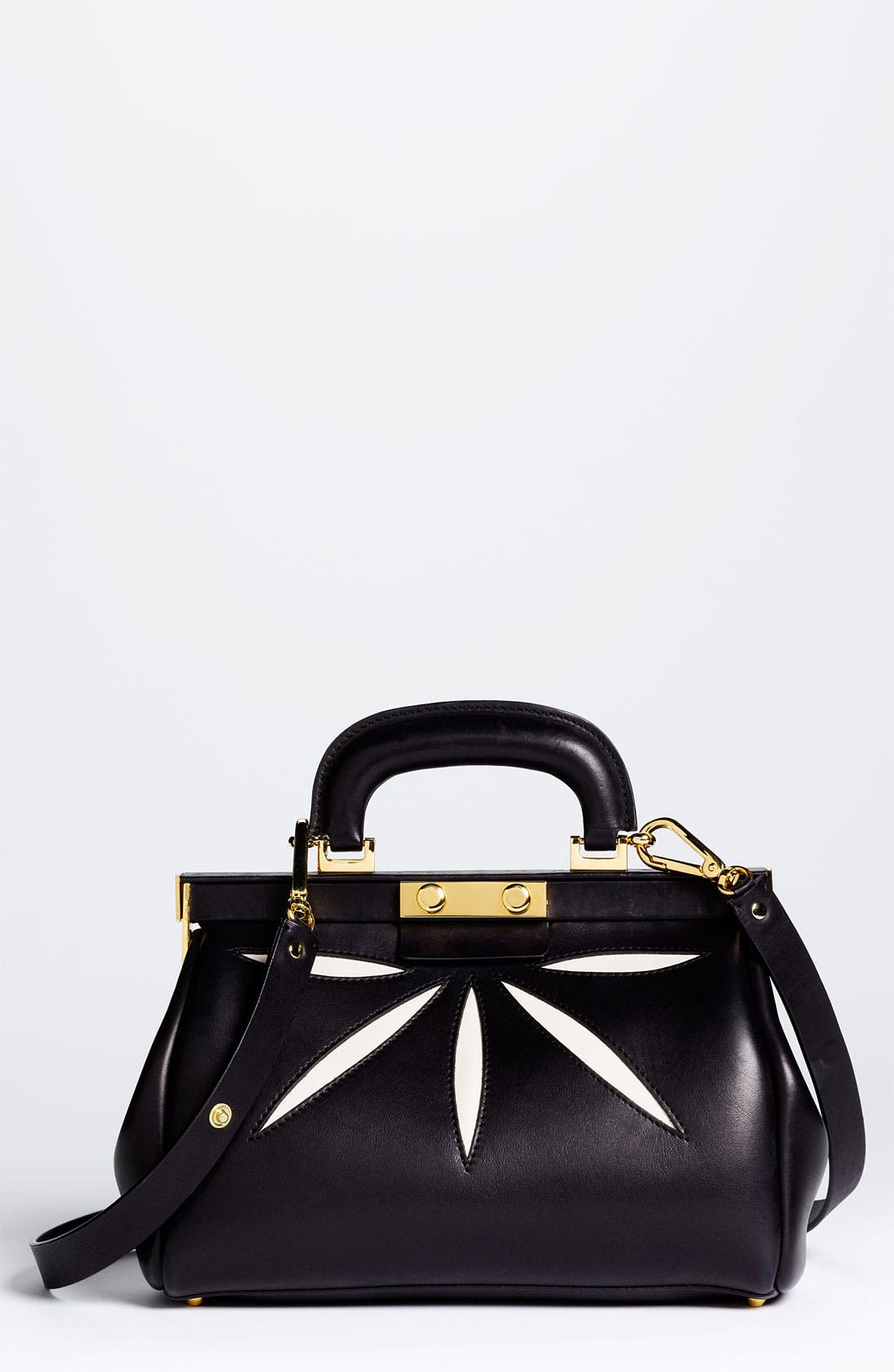 Alternate Image 1 Selected - Marni 'Mini' Leather Frame Bag