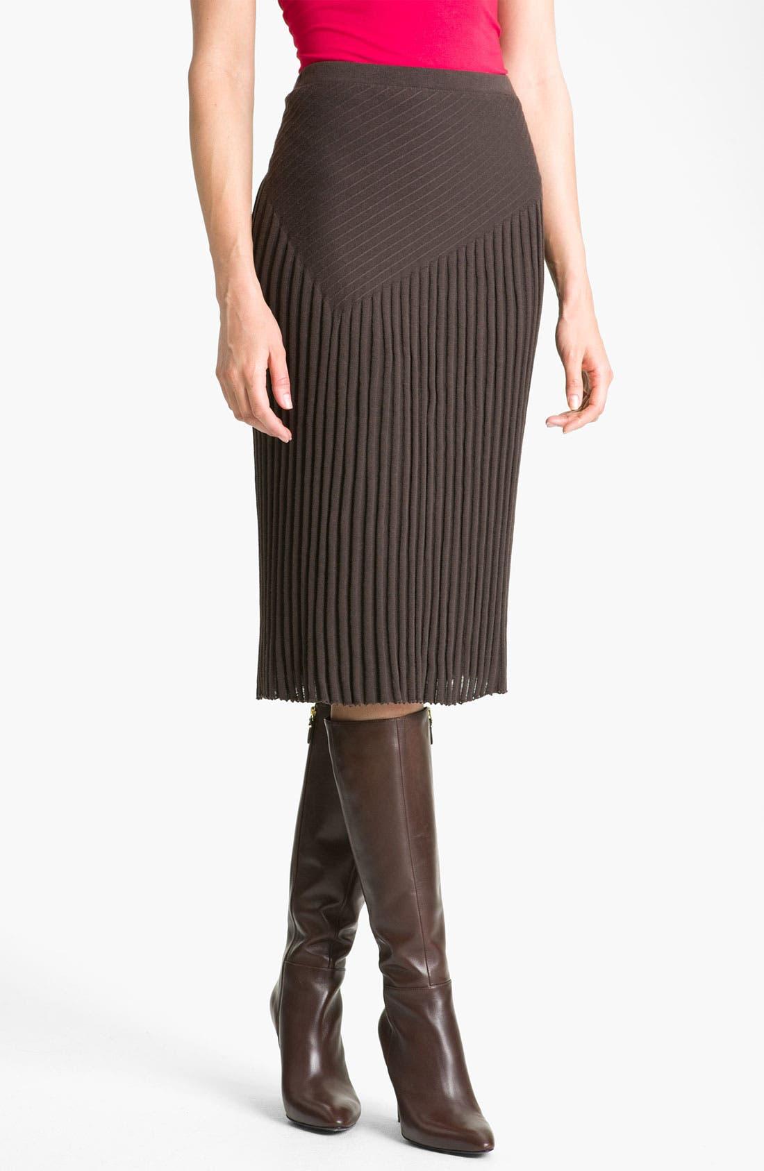 Alternate Image 1 Selected - Nic + Zoe Pleated Knit Skirt
