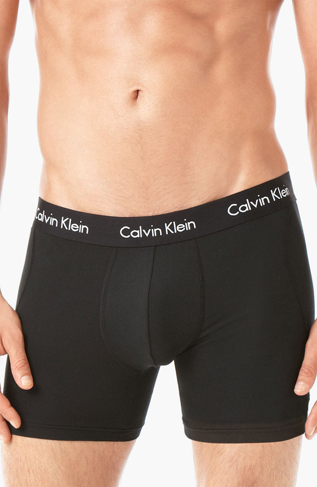 Alternate Image 2  - Calvin Klein Microfiber Boxer Briefs (Assorted 2-Pack)(Online Exclusive)
