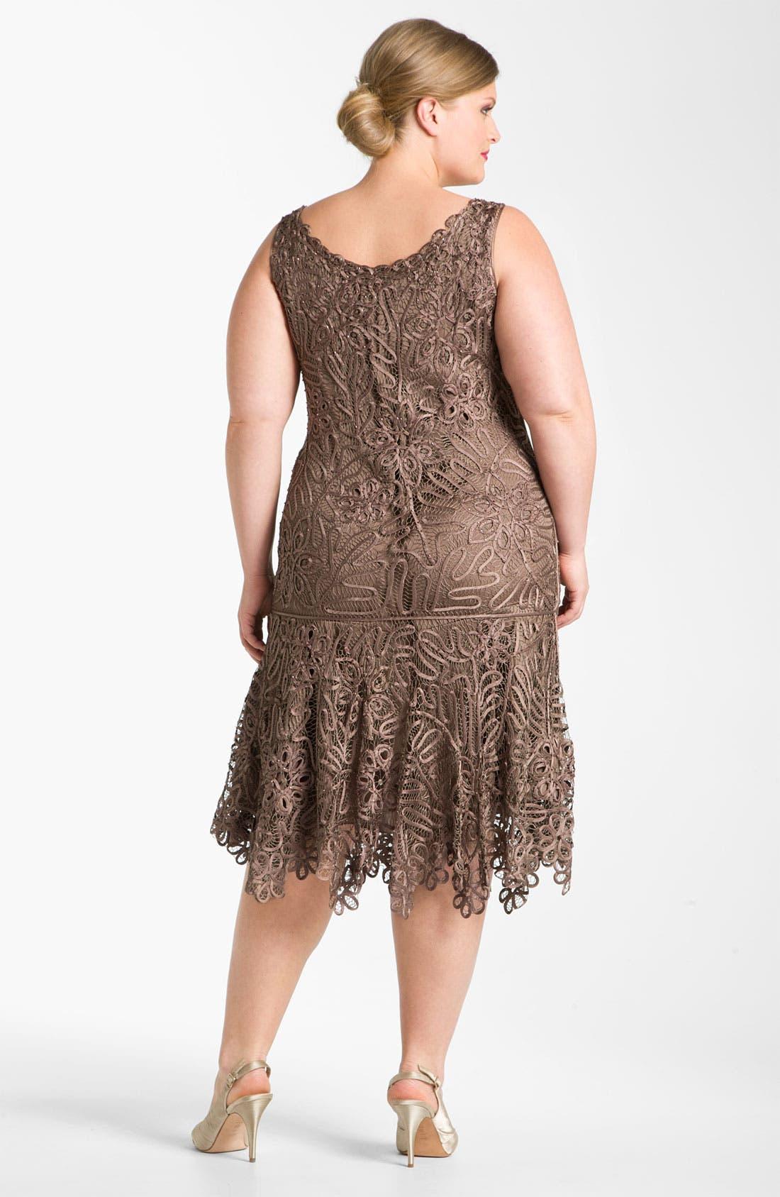 Alternate Image 2  - Soulmates Beaded Crochet Silk Dress & Bolero (Plus)