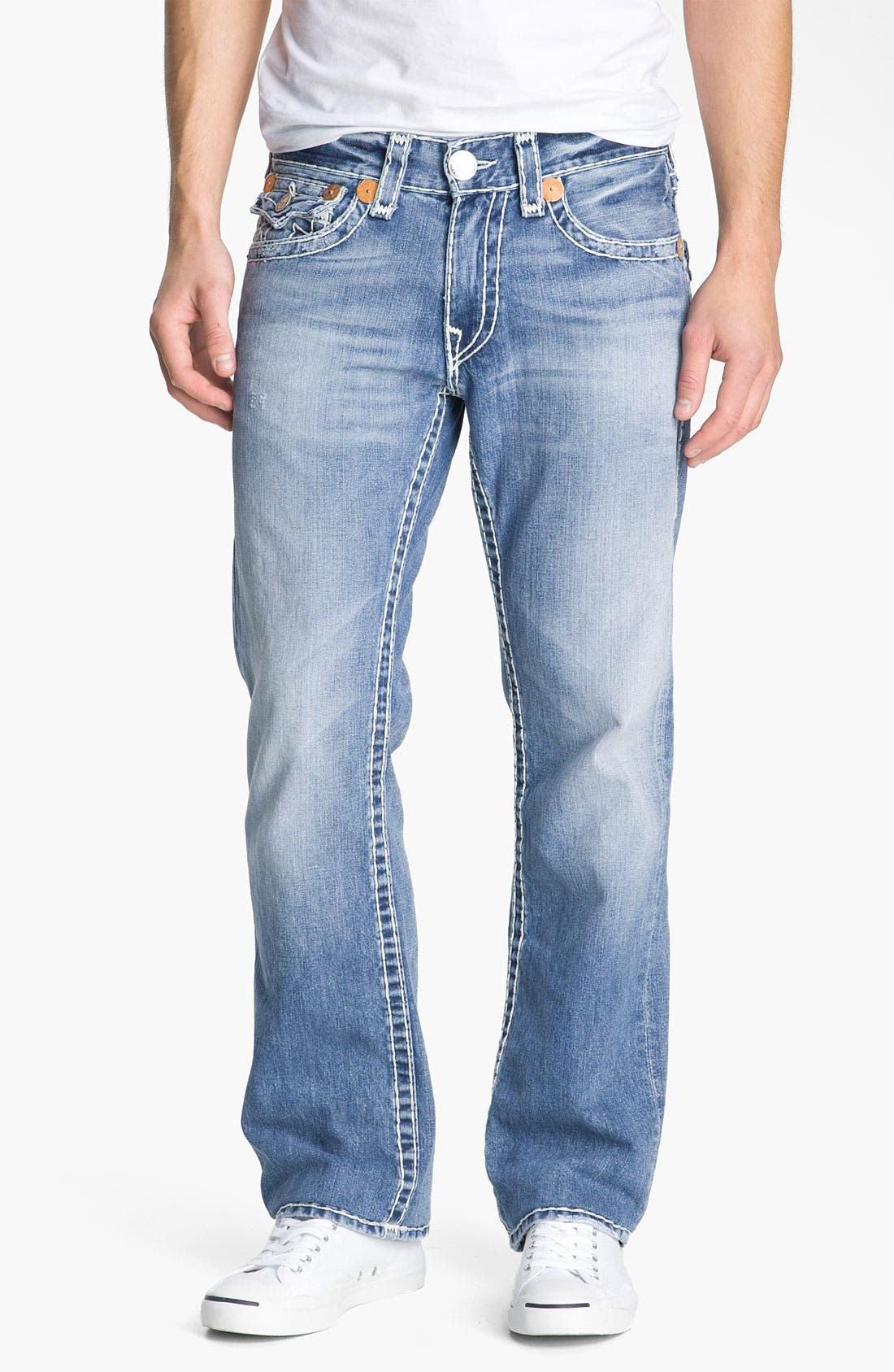Alternate Image 2  - True Religion Brand Jeans 'Ricky - Natural Super T' Straight Leg Jeans (Medium Drifter)