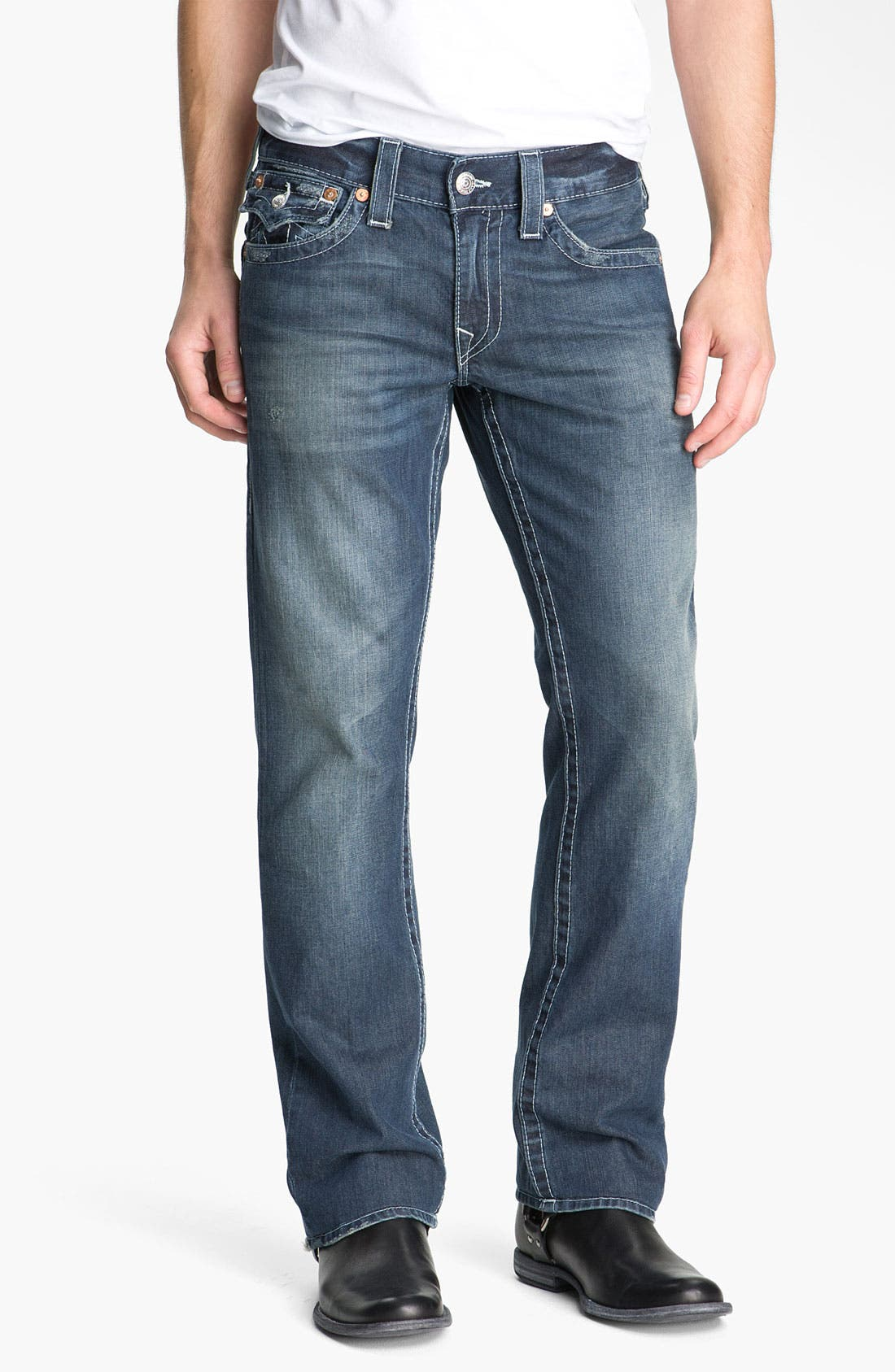 Alternate Image 2  - True Religion Brand Jeans 'Ricky - Natural' Straight Leg Jeans (Surfer Dark)