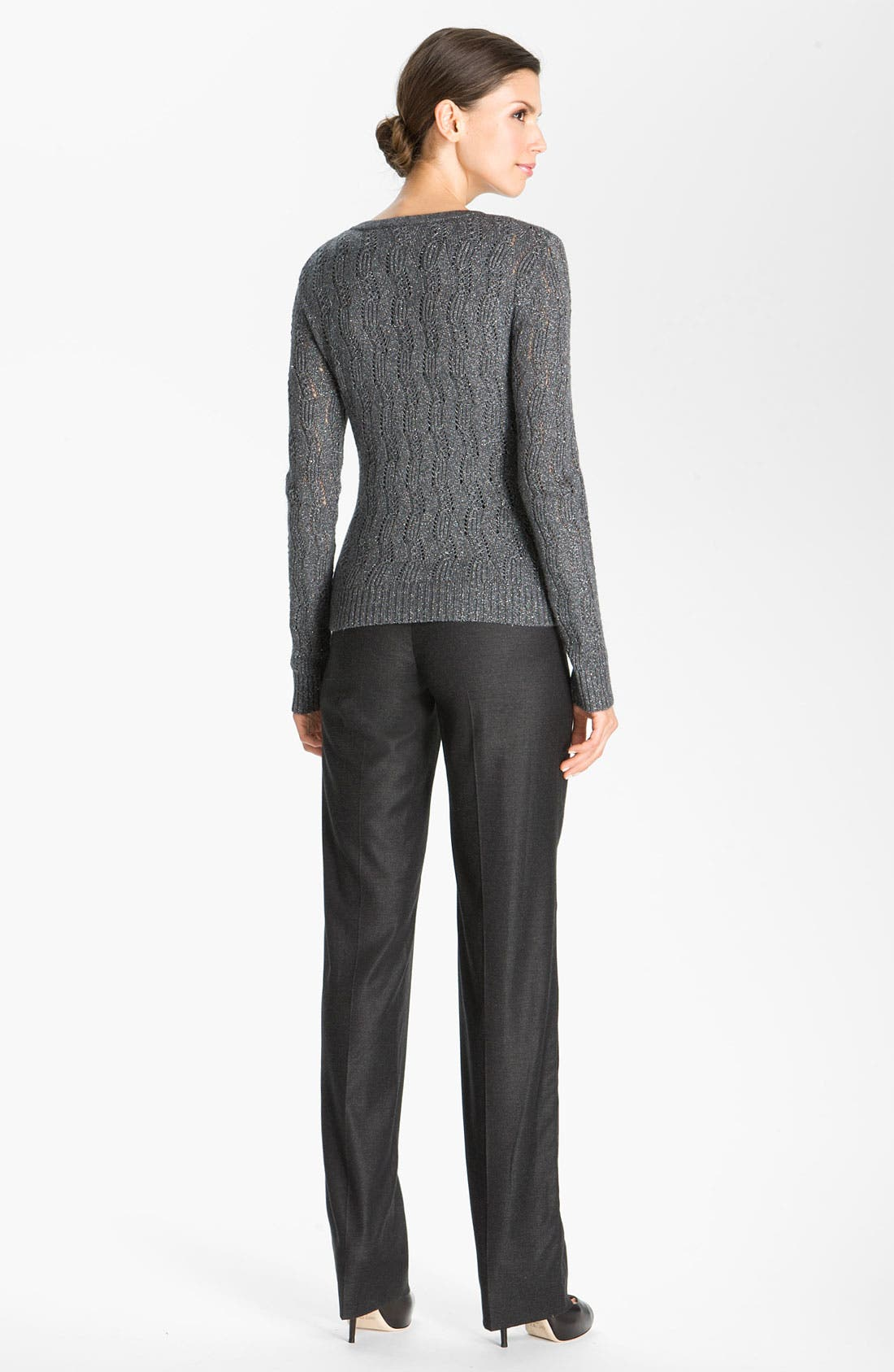 Alternate Image 4  - St. John Collection Lacy Cable Knit Cardigan