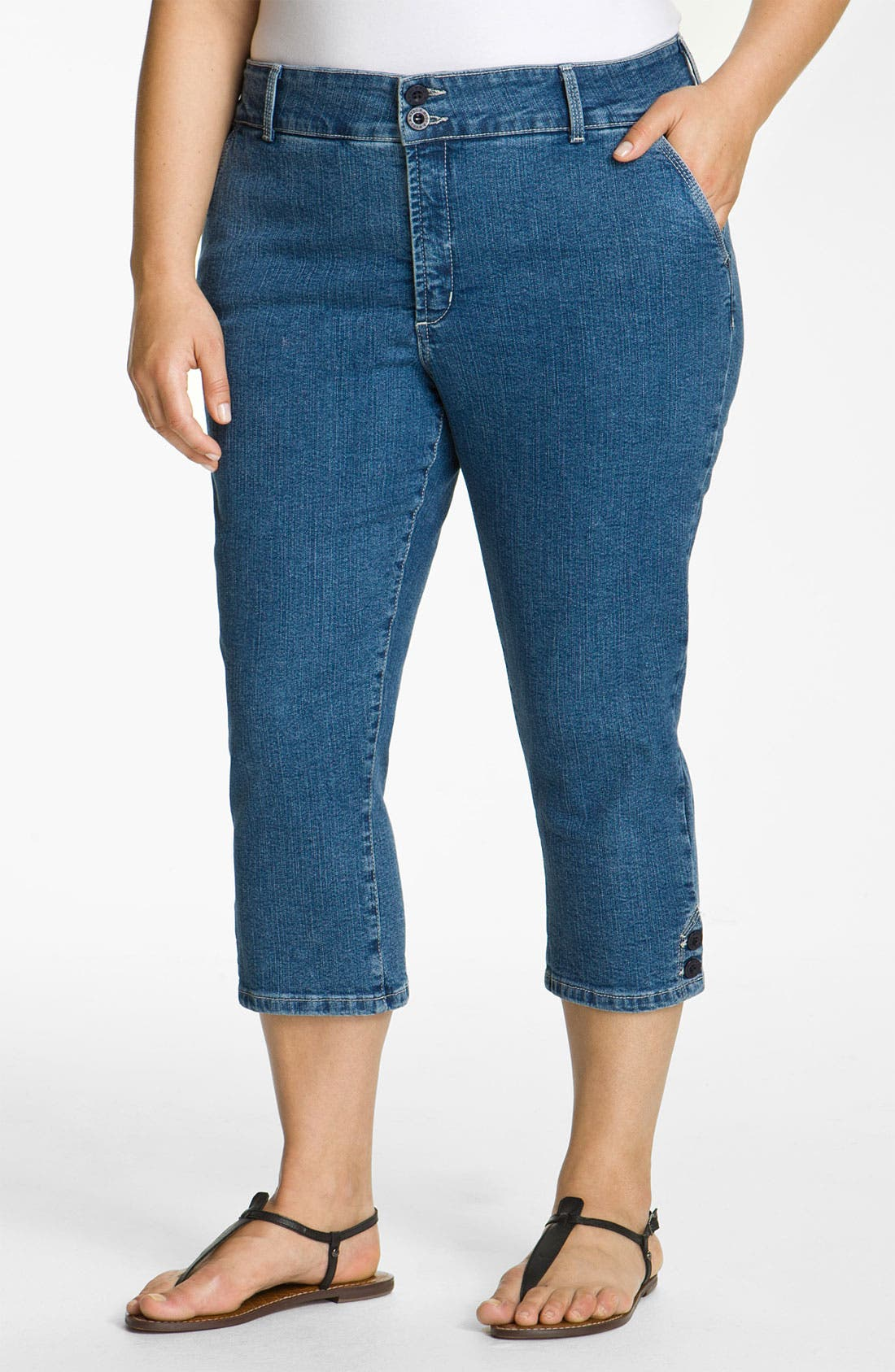 Alternate Image 1 Selected - NYDJ 'Sammie' Crop Stretch Jeans (Plus)