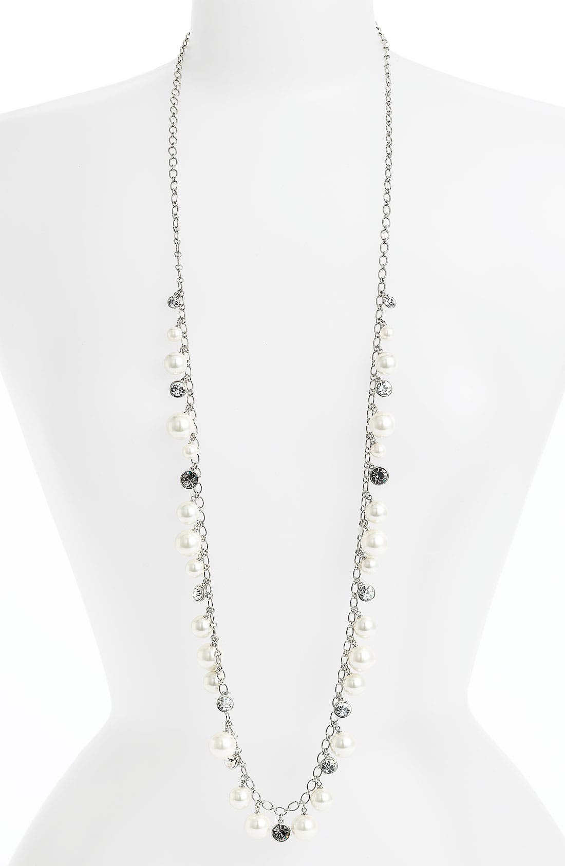 Alternate Image 1 Selected - Givenchy Shakey Glass Pearl Long Necklace