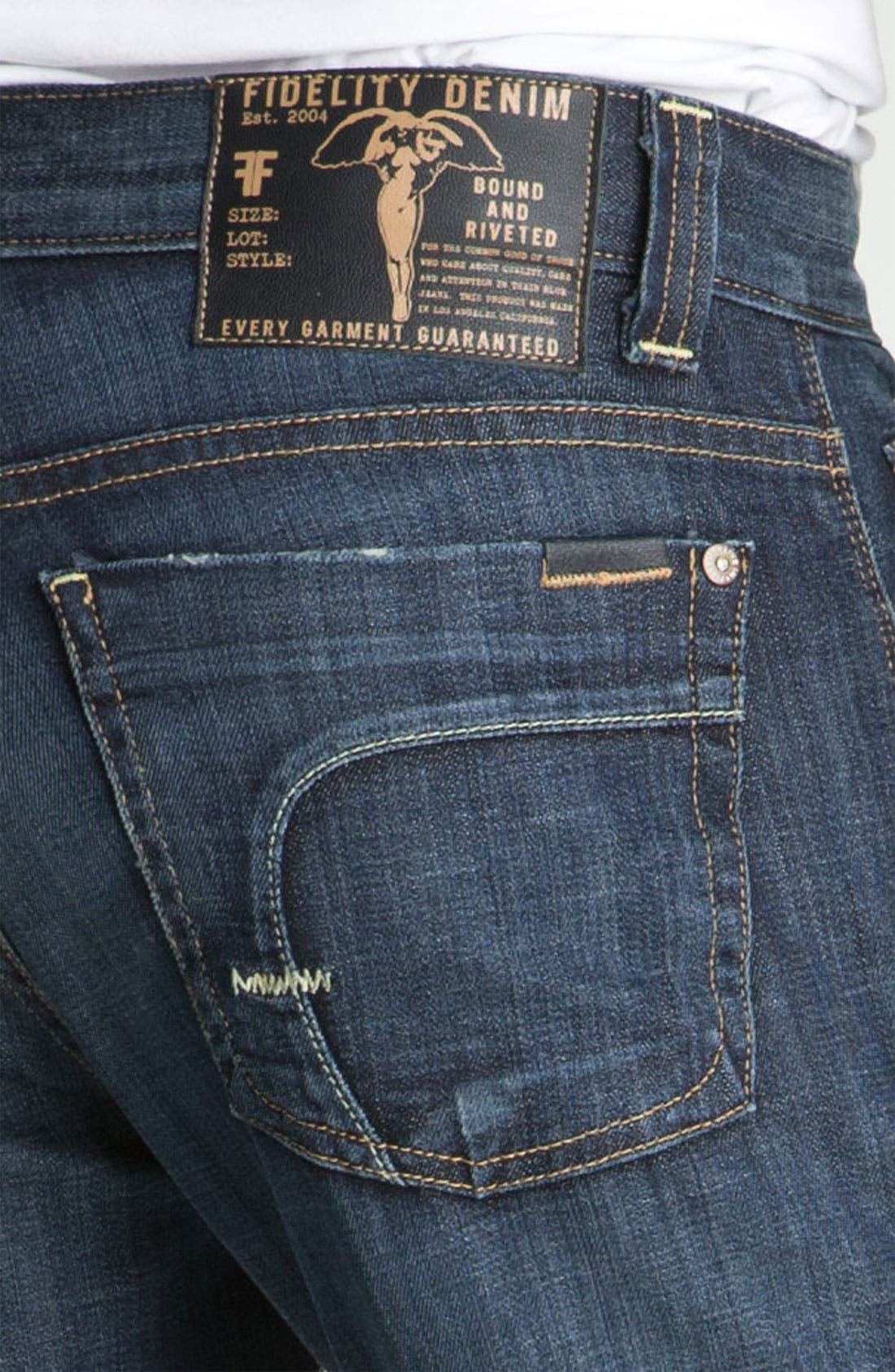 Alternate Image 4  - Fidelity Denim 'Camino' Relaxed Leg Jeans (Generation Blue)