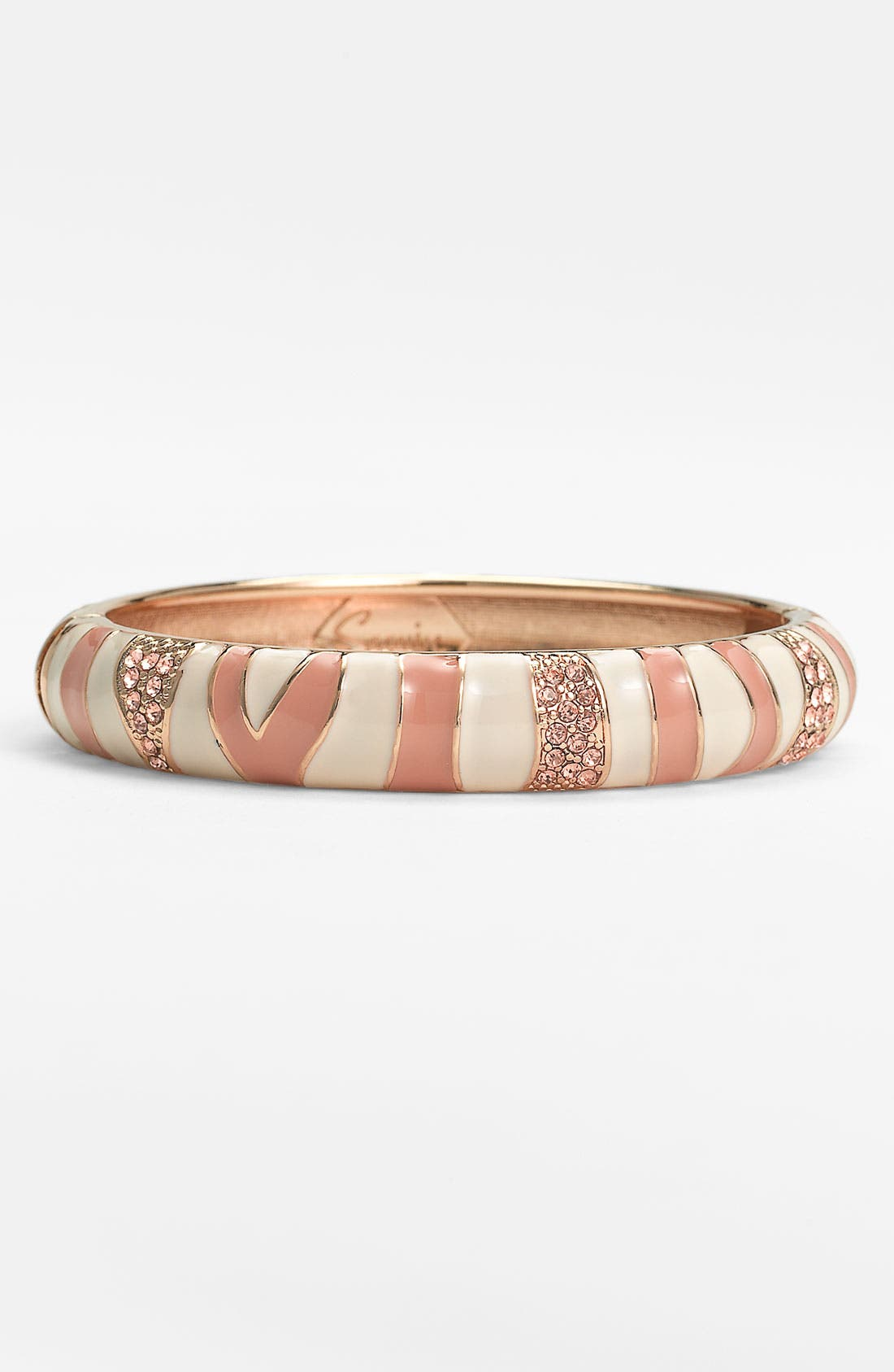 Main Image - Sequin Medium Zebra Enamel Bangle