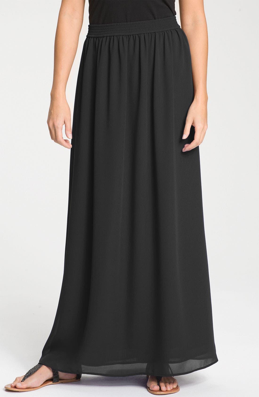 Main Image - Halogen® Chiffon Maxi Skirt