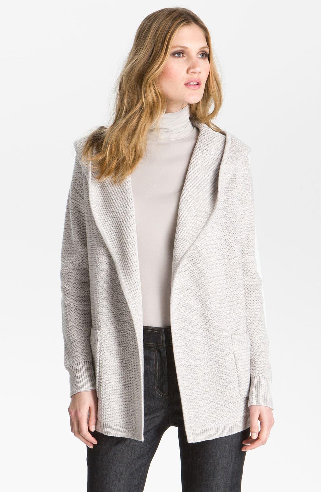 Alternate Image 2  - St. John Yellow Label Hooded Sweater Jacket