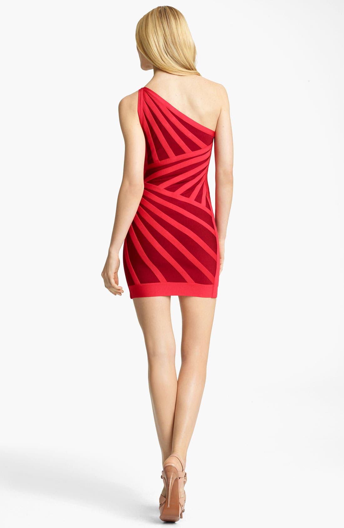 Alternate Image 2  - Herve Leger One Shoulder Bandage Dress