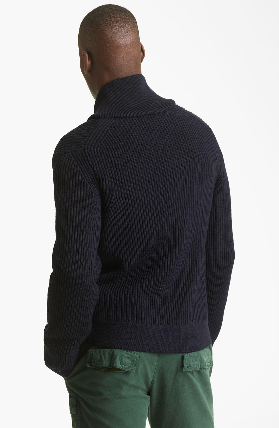 Alternate Image 2  - KENZO Rib Zip Sweater