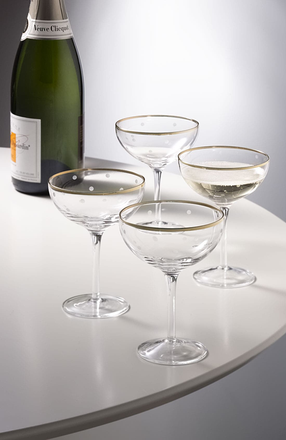 Alternate Image 3  - kate spade new york 'larabee dot fête - mini' champagne saucer (Set of 4)