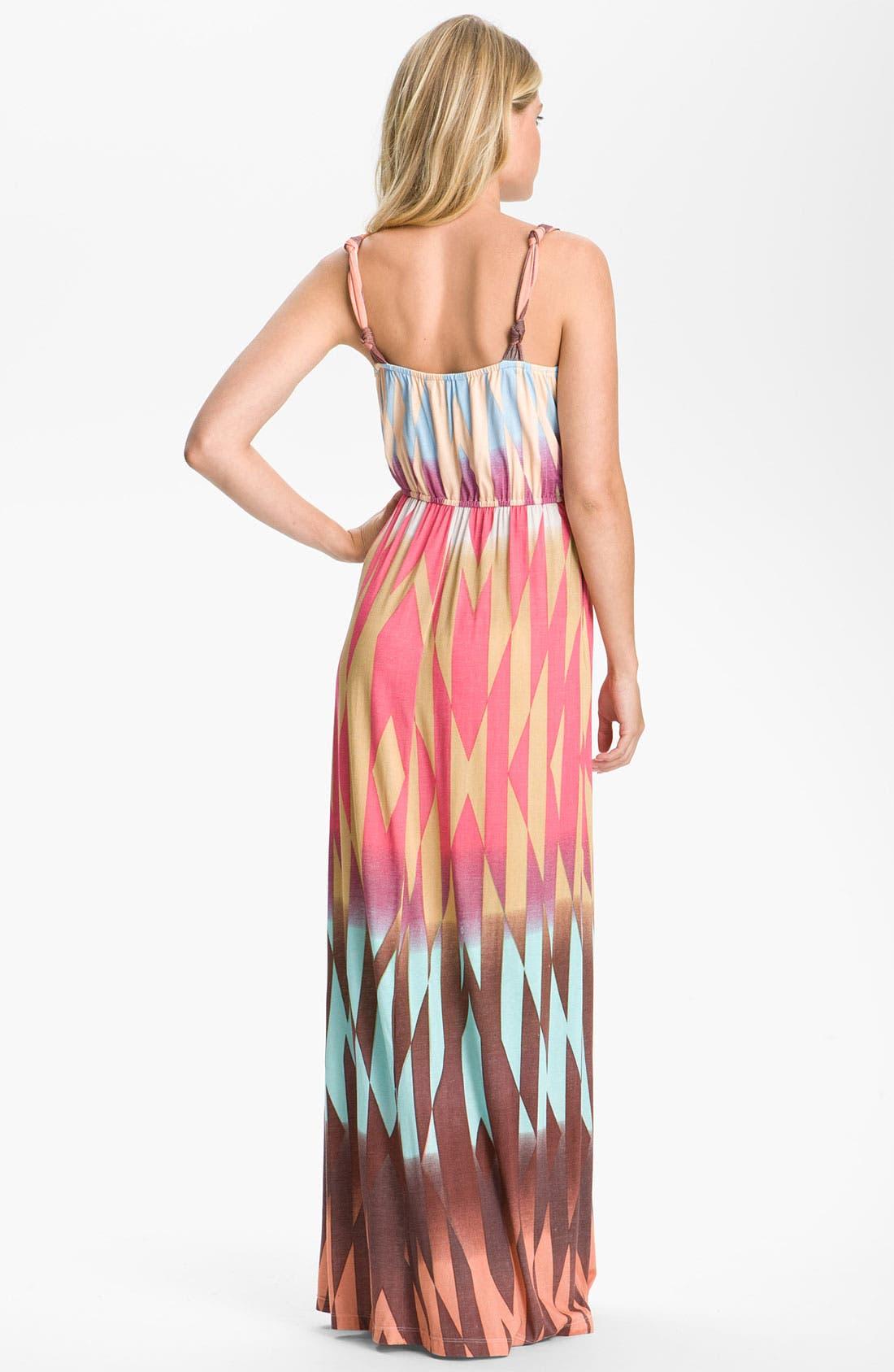 Alternate Image 2  - Presley Skye Print Surplice Jersey Maxi Dress